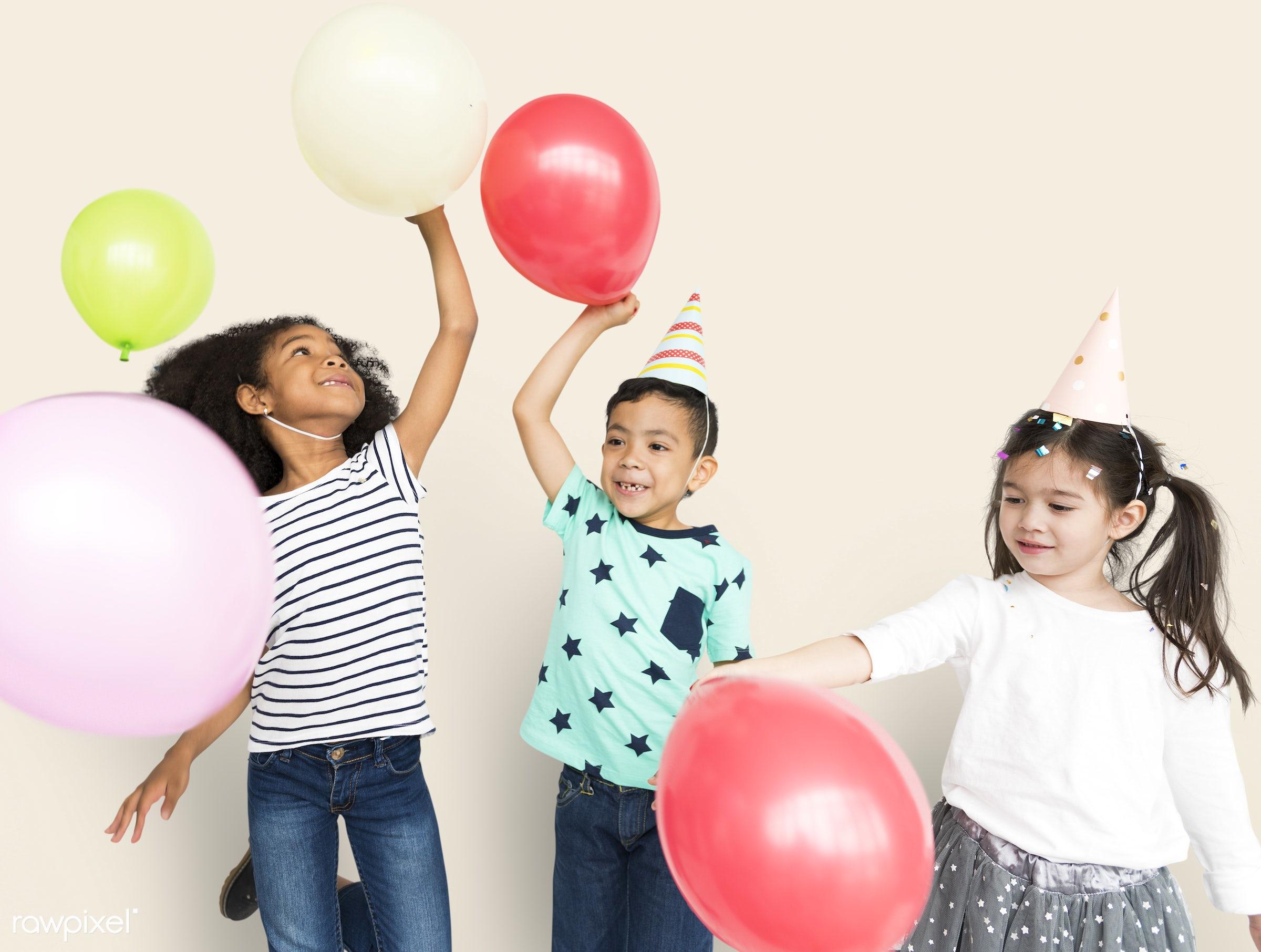 adorable, background, balloon, boy, casual, celebration, child, children, color, colorful, cute, decoration, diverse,...