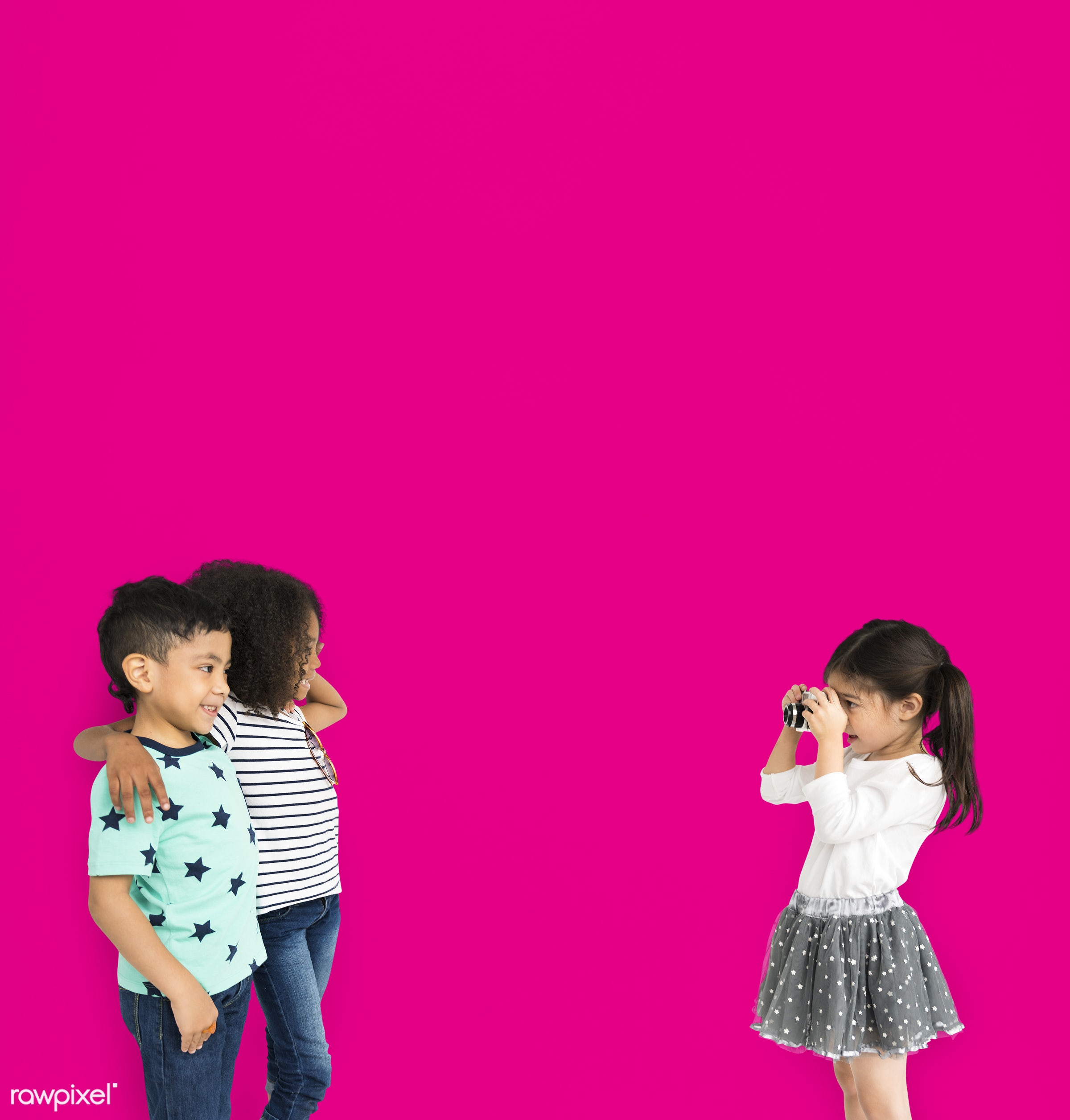 expression, studio, person, diverse, little, people, positivity, together, friends, friendship, pink, mixed race, positive,...
