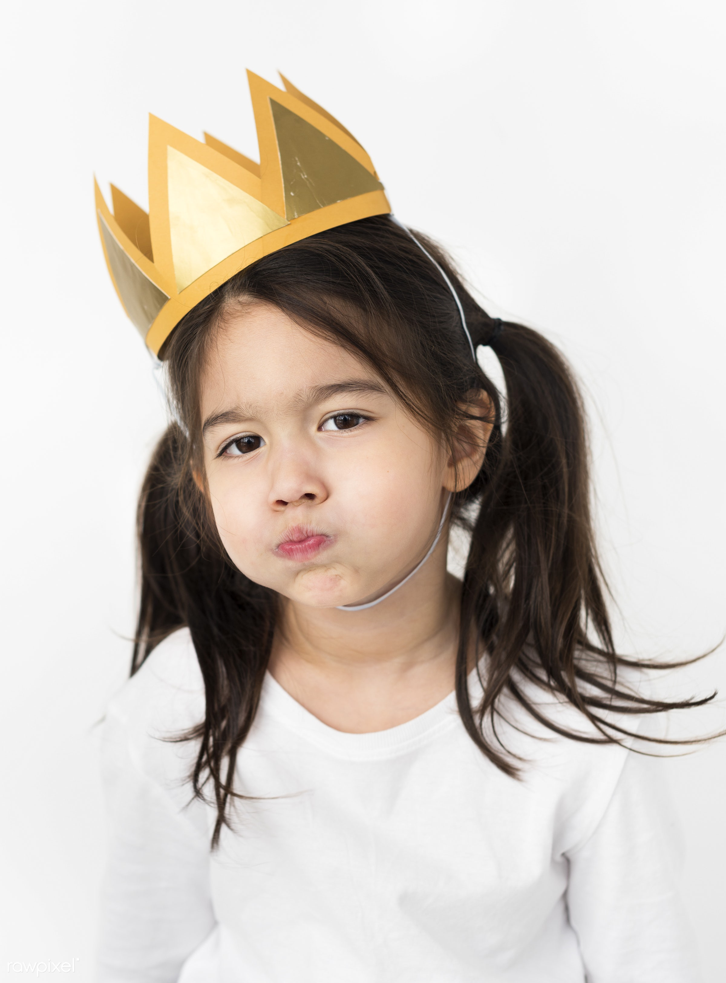 expression, crown, little, be creative, imagination, kid, child, girl, style, lifestyle, feminism, abstract, isolated,...