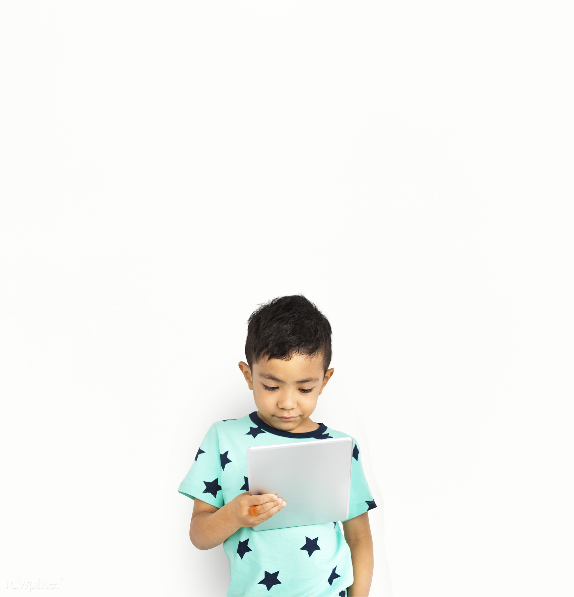 alone, boy, cheerful, child, children, isolated, kid, one, playful, smiling, young, youth, wireless, digital, device, tablet...