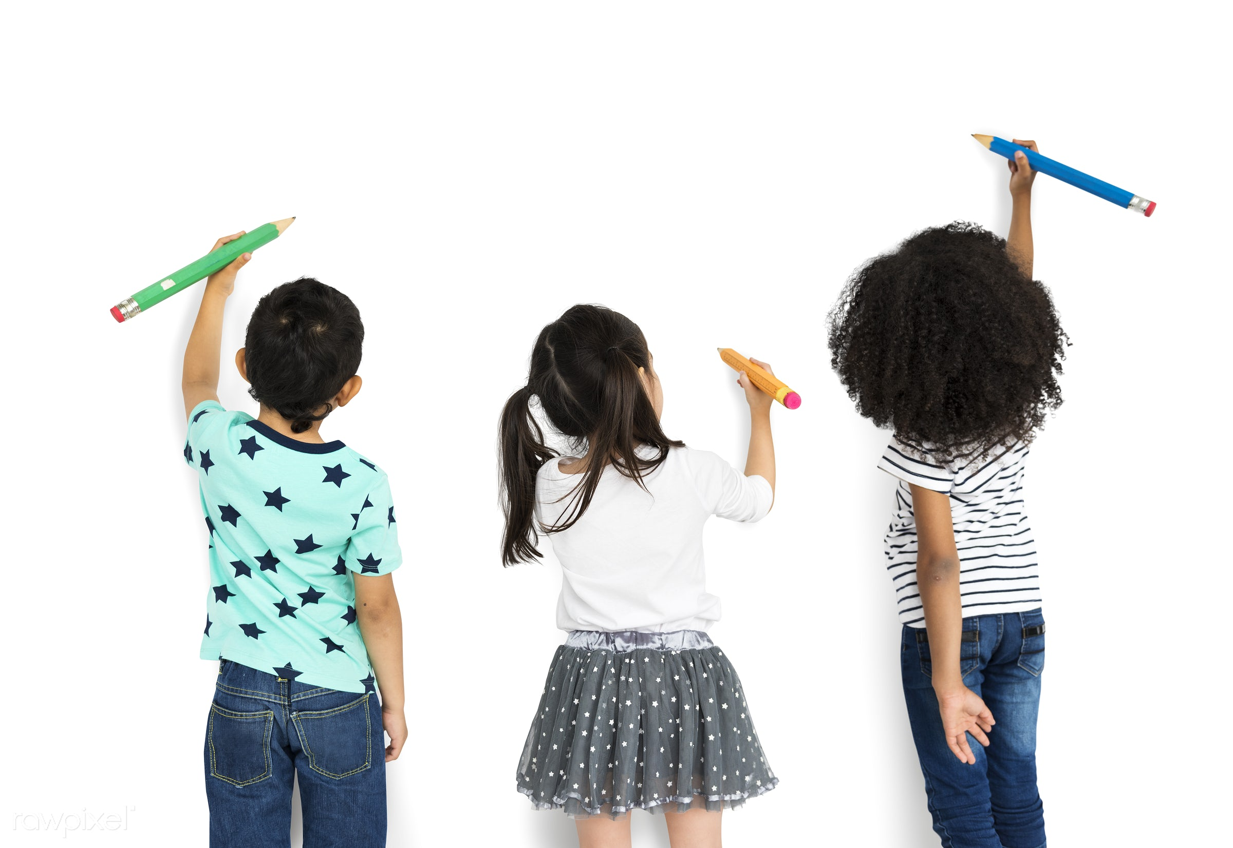 pencil, writing, cheerful, child, children, diversity, friends, friendship, group, isolated, kid, kids, people, playful,...
