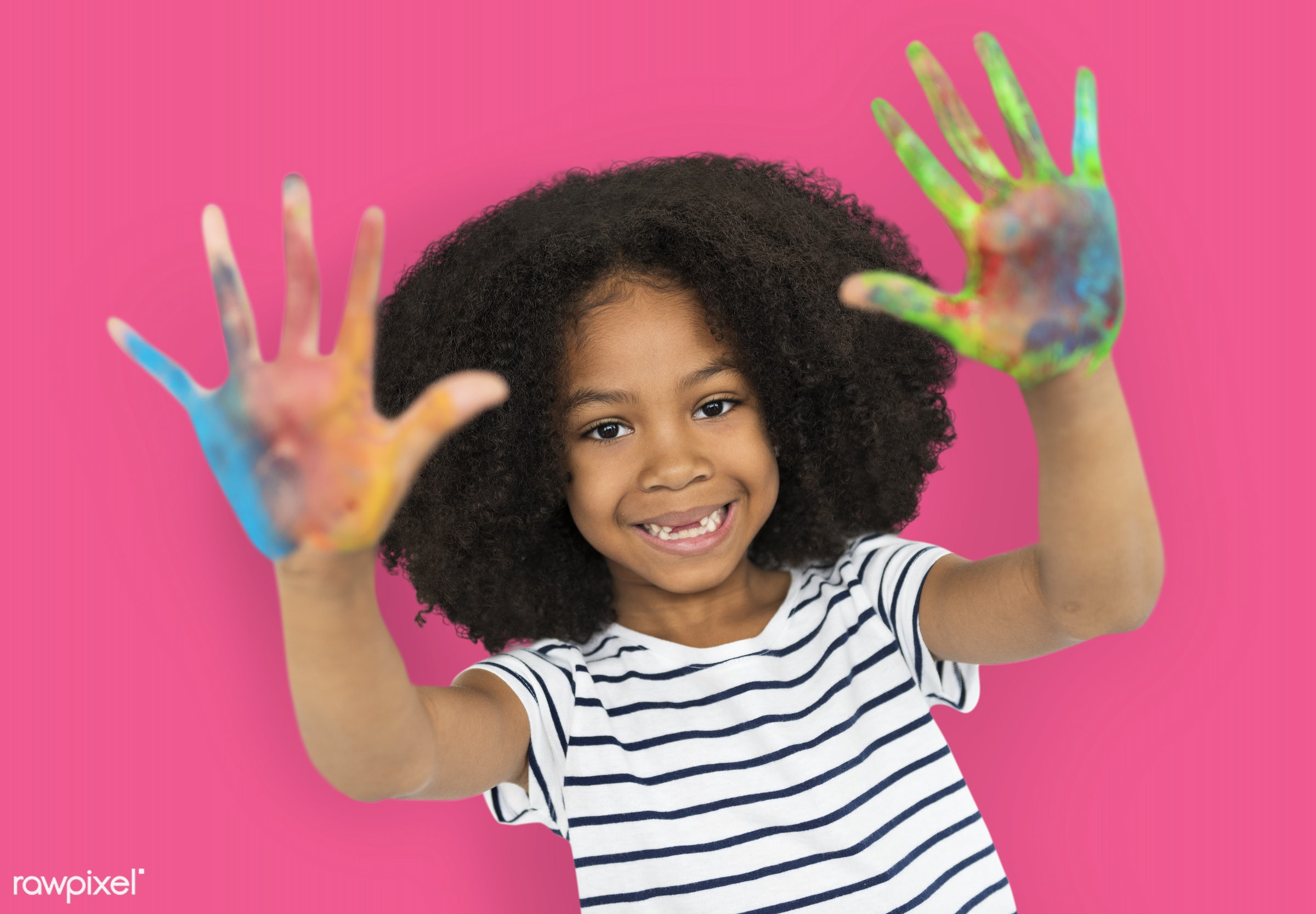 studio, expression, person, little, cute, people, painted hands, drawing, draw, child, girl, happy, casual, smile, cheerful...
