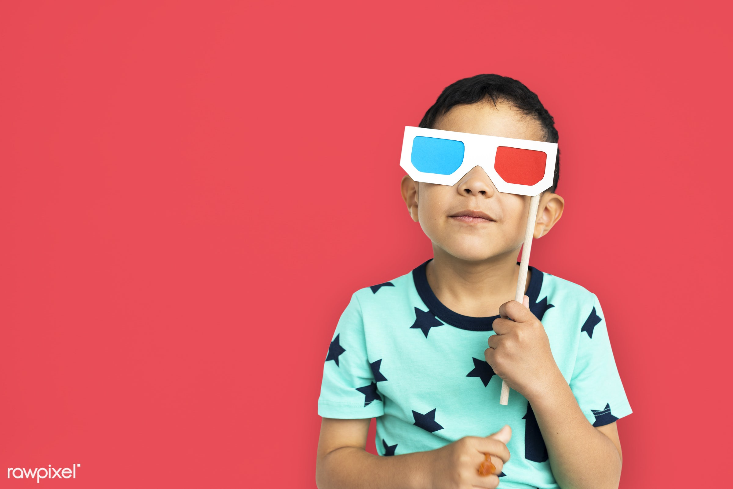 studio, expression, person, glasses, joy, little, cute, 3d glasses, people, kid, child, joyous, happy, cheerful, isolated,...