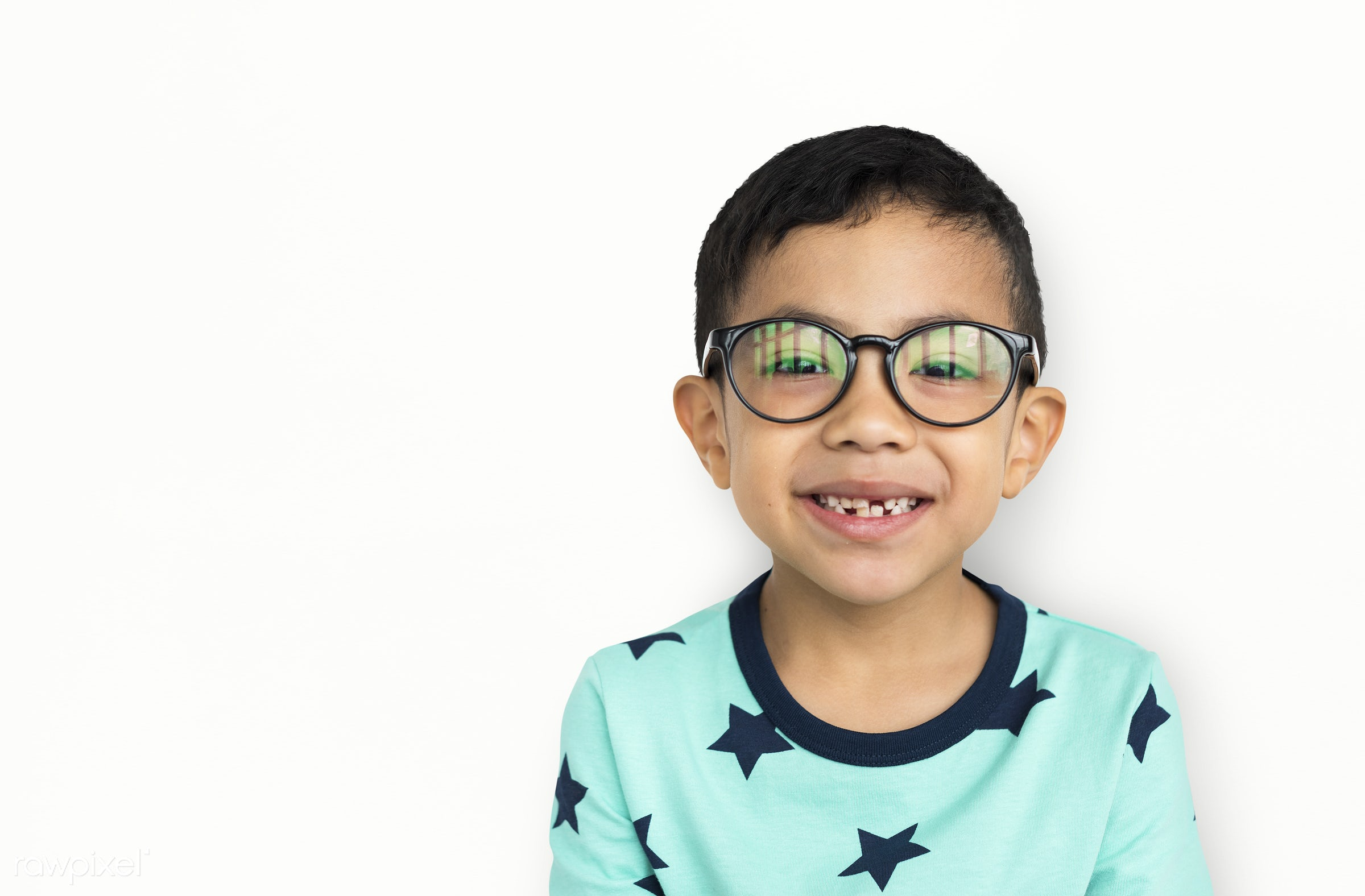 studio, expression, person, glasses, joy, isolated on white, little, cute, people, kid, child, joyous, happy, cheerful,...