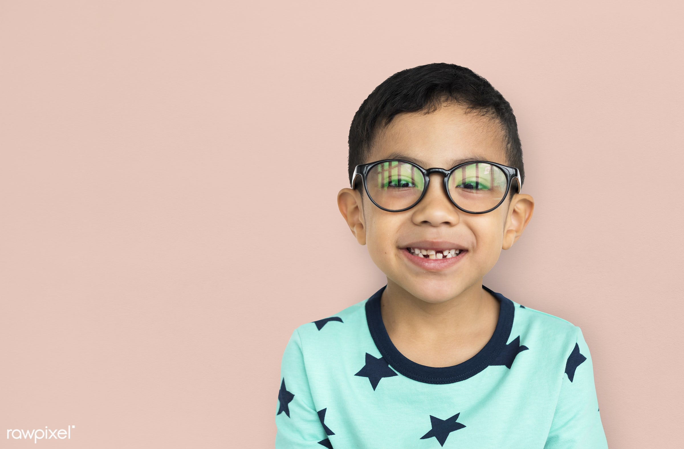 studio, expression, person, glasses, joy, little, cute, people, kid, child, joyous, happy, cheerful, isolated, excited,...