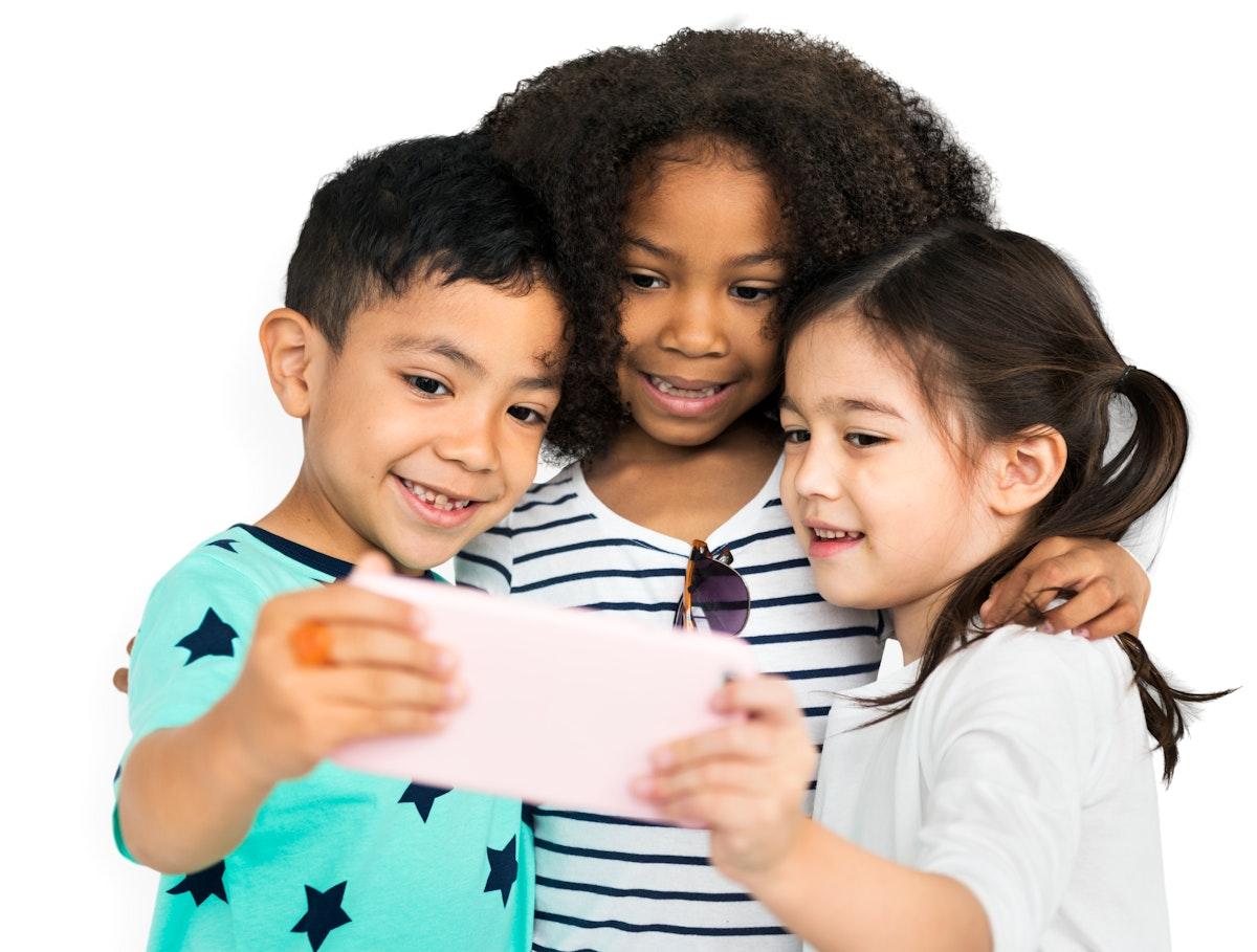 Little Children Selfie Posing Concept