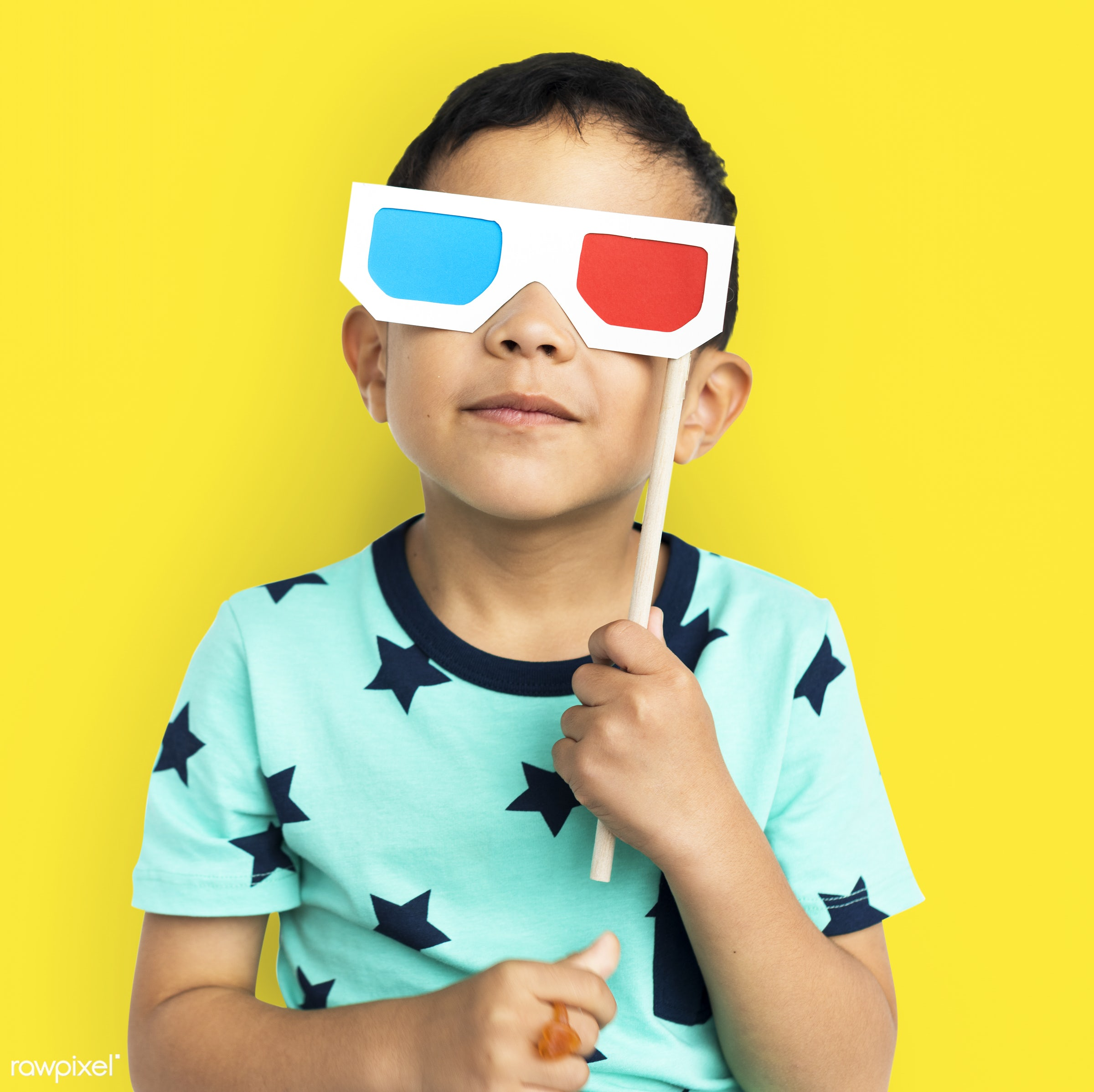 Young kids studio shoot - boy, child, expression, fun, isolated, kid, playful, studio, young, youth, props, eyeglasses,...