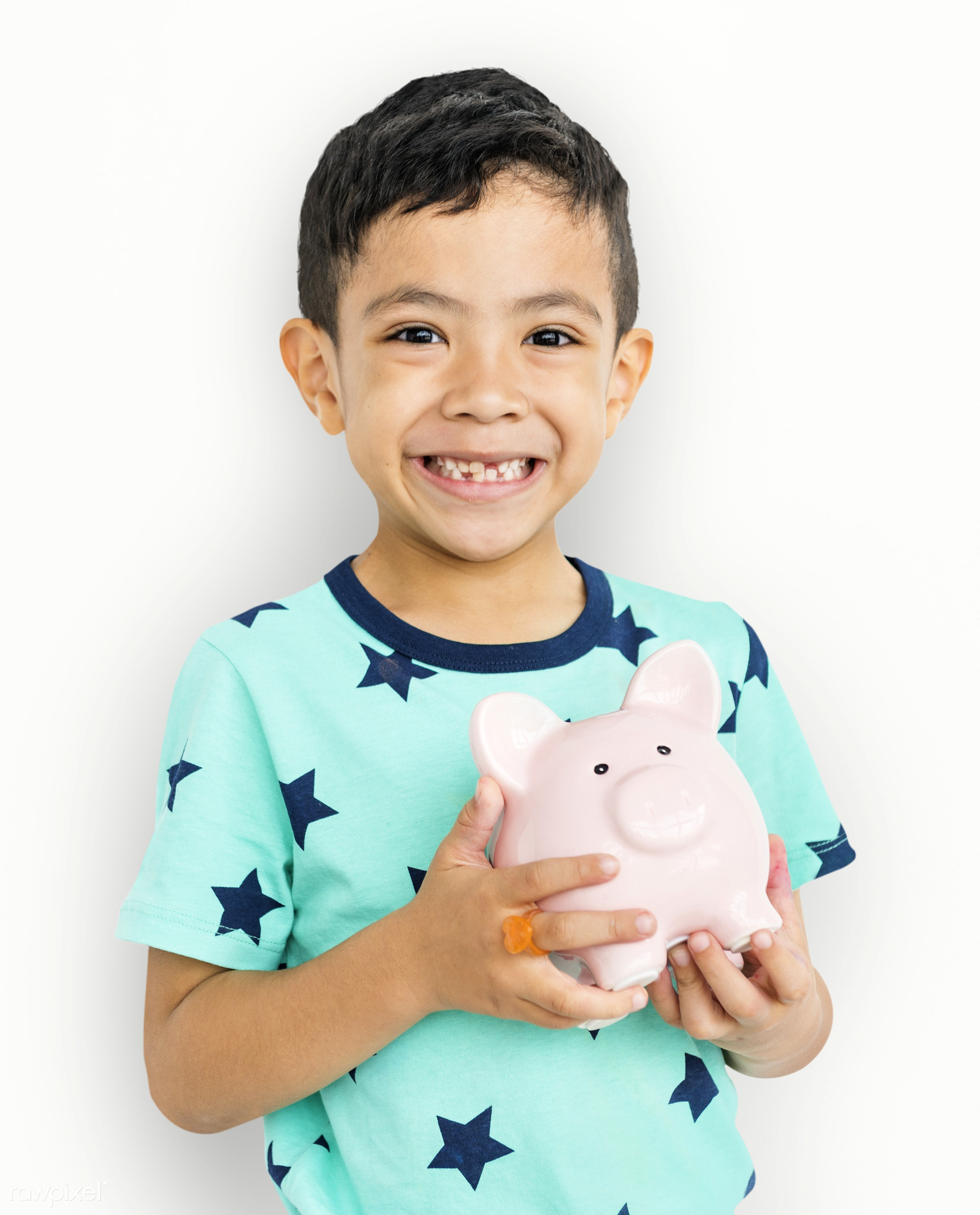 studio, expression, save money, person, joy, isolated on white, little, savings, cute, people, kid, child, joyous, happy,...