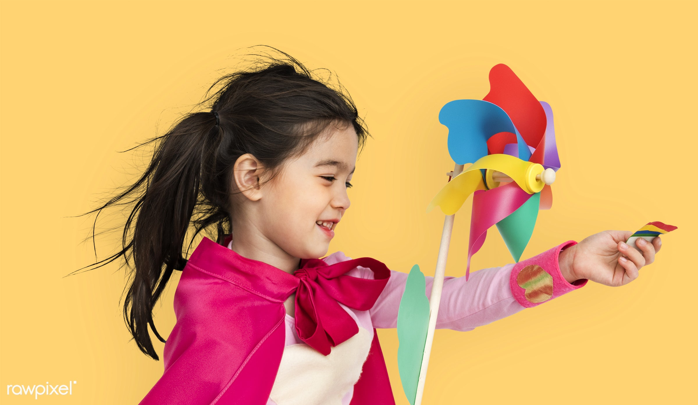 studio, expression, person, cape, joy, little, cute, people, kid, girl, toy, smile, cheerful, smiling, superhero, isolated,...