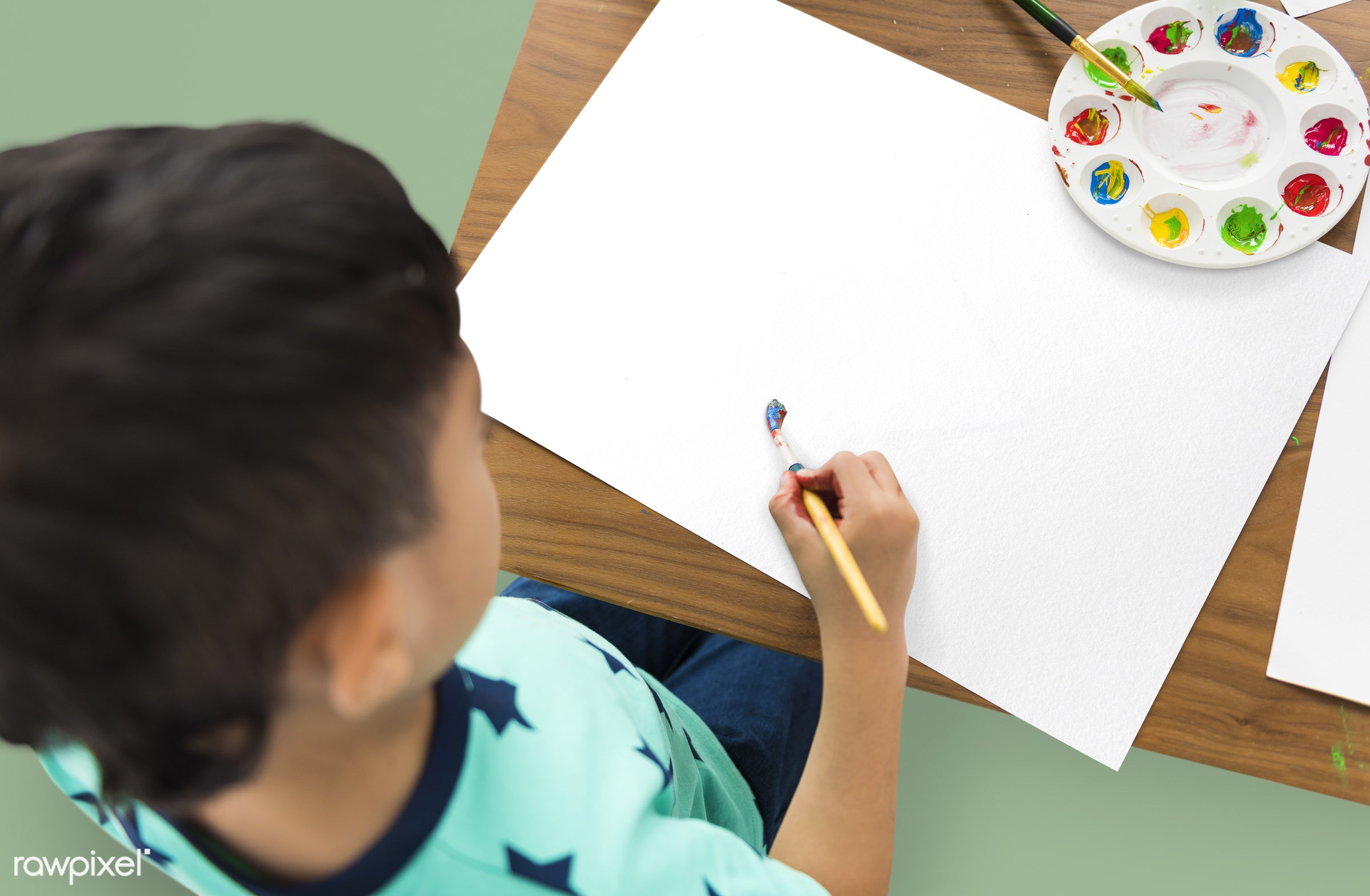 expression, studio, person, top view, designing, top shot, children, little, people, creativity, top down, kid, paint brush...