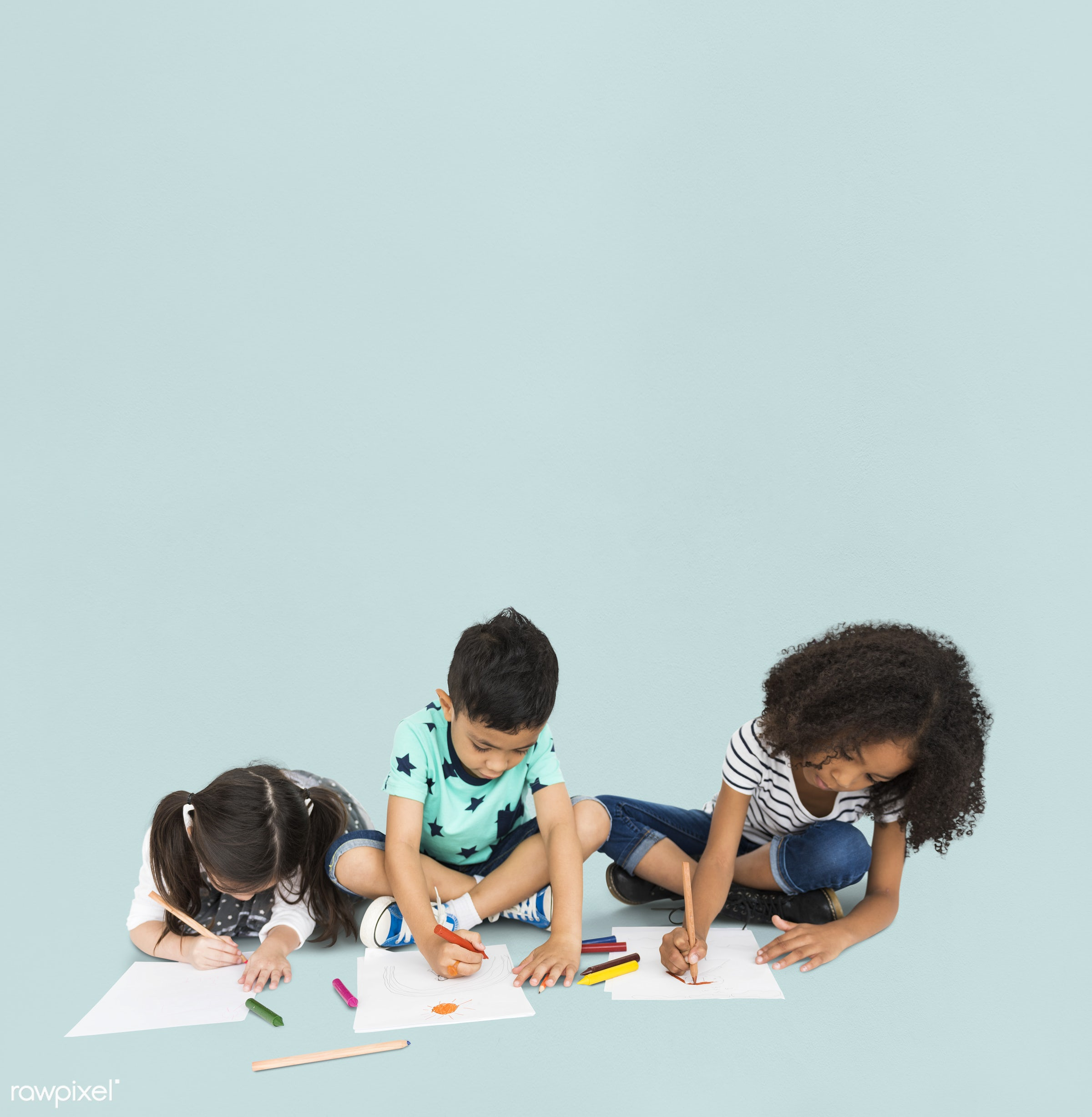 expression, studio, person, diverse, children, little, creativity, people, together, drawing, draw, pose, friends, sketching...