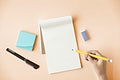 Blank Mockup Empty Page Diary Concept