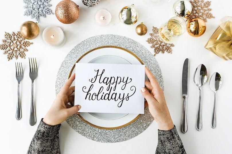 Christmas greetings concept