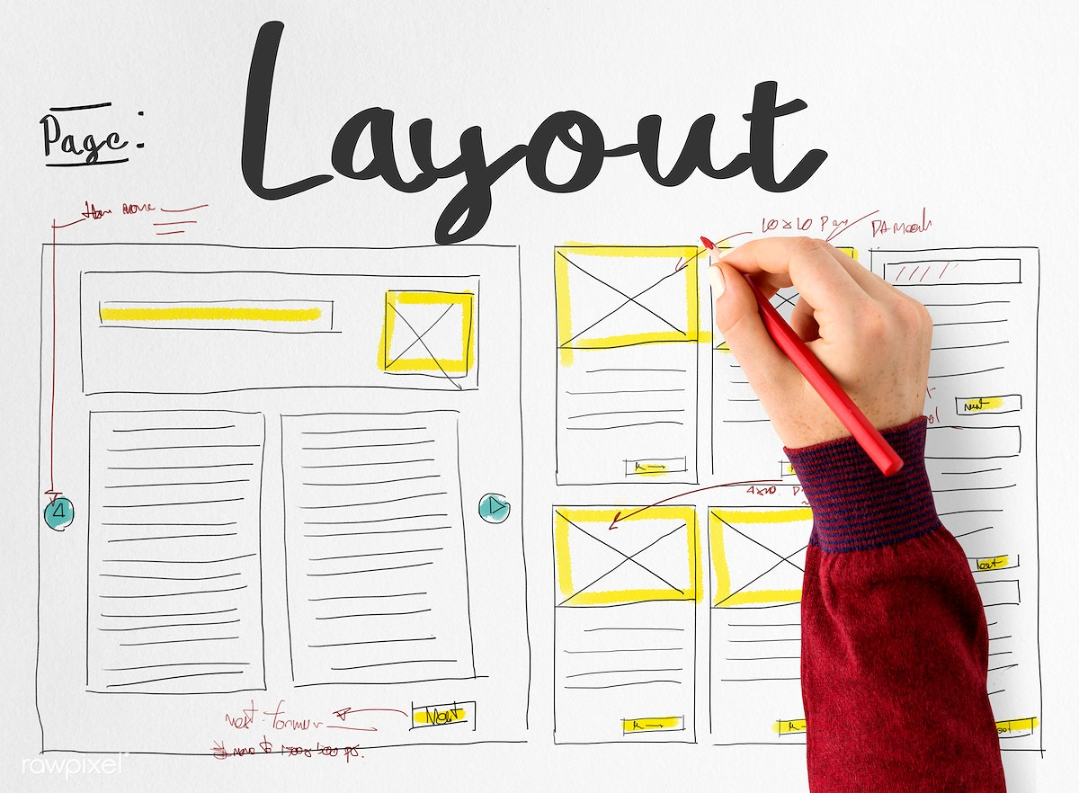 Download premium image of Drafting a website layout 112972