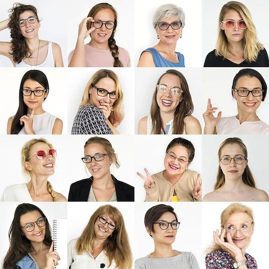 Set of portraits of women
