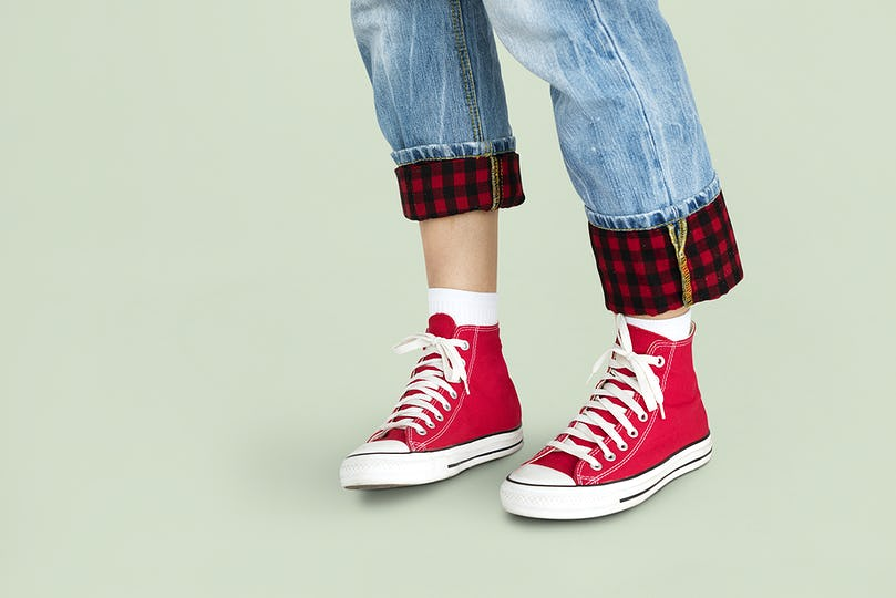Person Feet Shoes Sneakers Style Concept