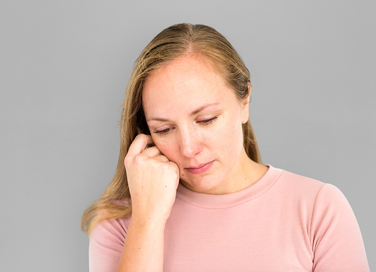 Woman Depressed Unwell Ill Concept