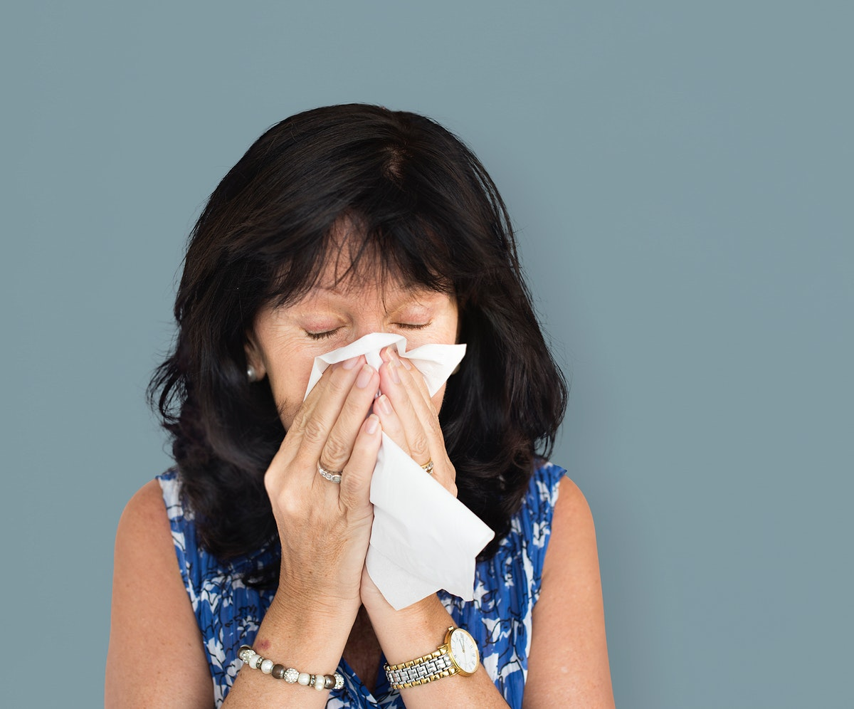 Woman Tissue Crying Sneezing Concept