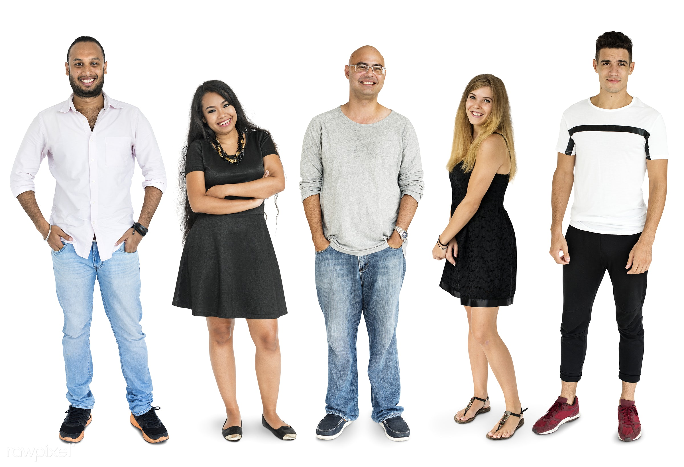 Diverse people set - gentlemen, studio, person, diverse, set, people, attraction, together, asian, caucasian, life, woman,...