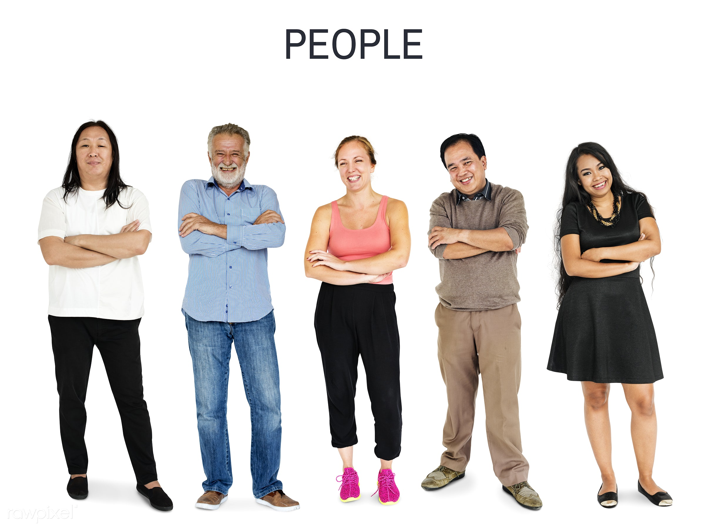Diverse people set - gentlemen, studio, person, diverse, set, people, attraction, together, asian, caucasian, life, woman,...