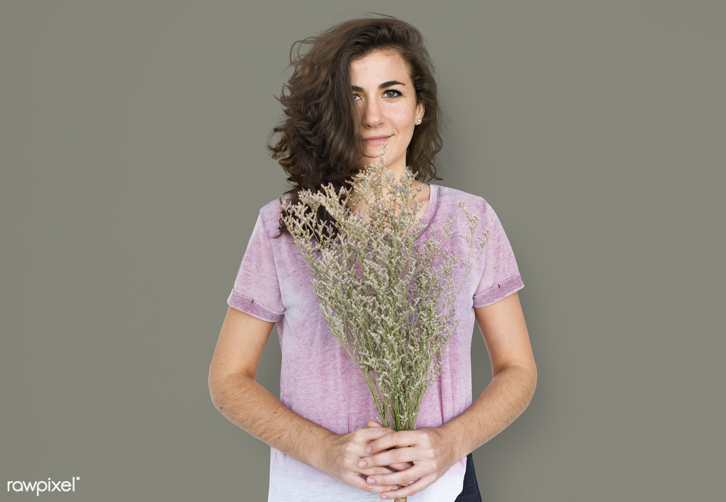 studio, expression, bouquet, face, person, playful, holding, joy, beauty, cute, pretty, people, girl, solo, fresh, happy,...