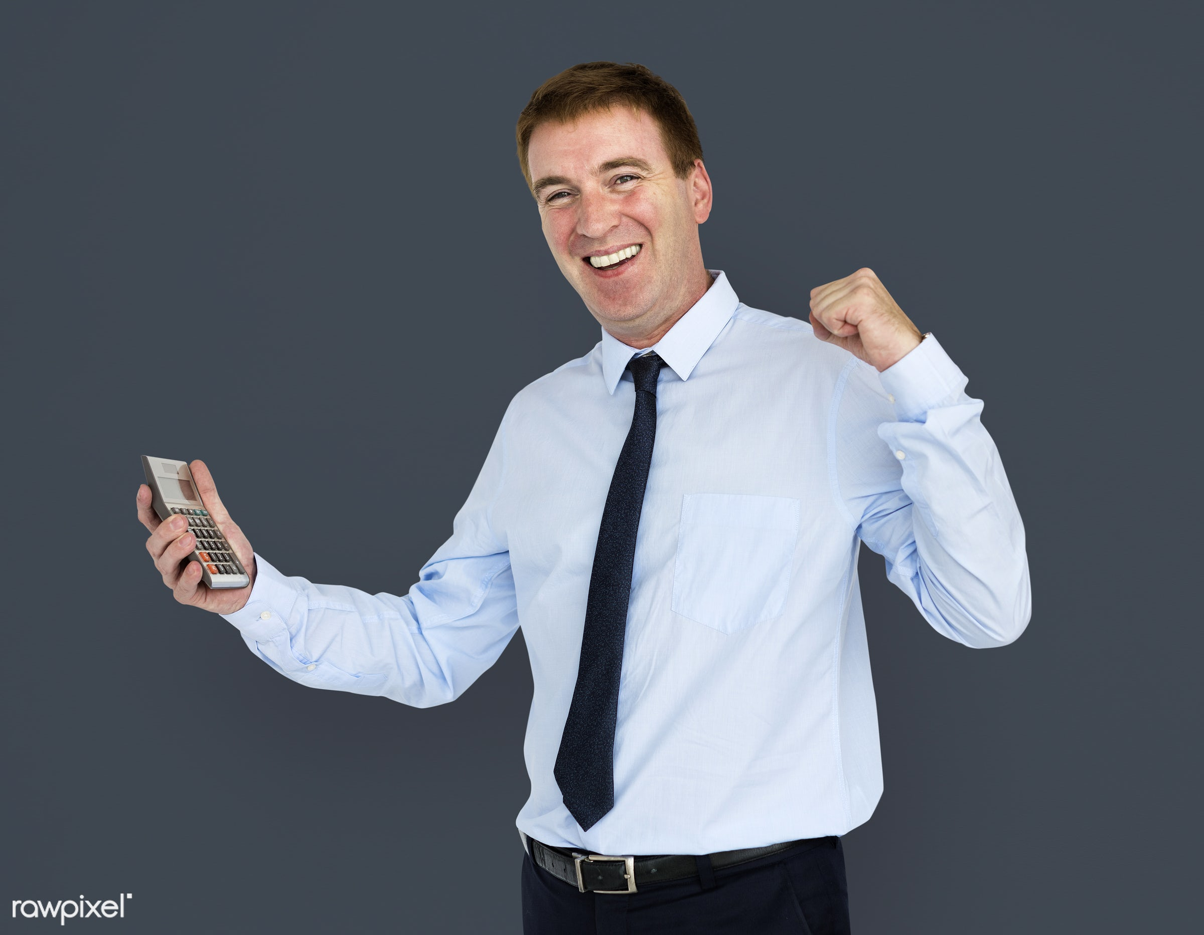 studio, expression, person, business wear, people, business, caucasian, achieved, happy, smile, positive, calculator,...