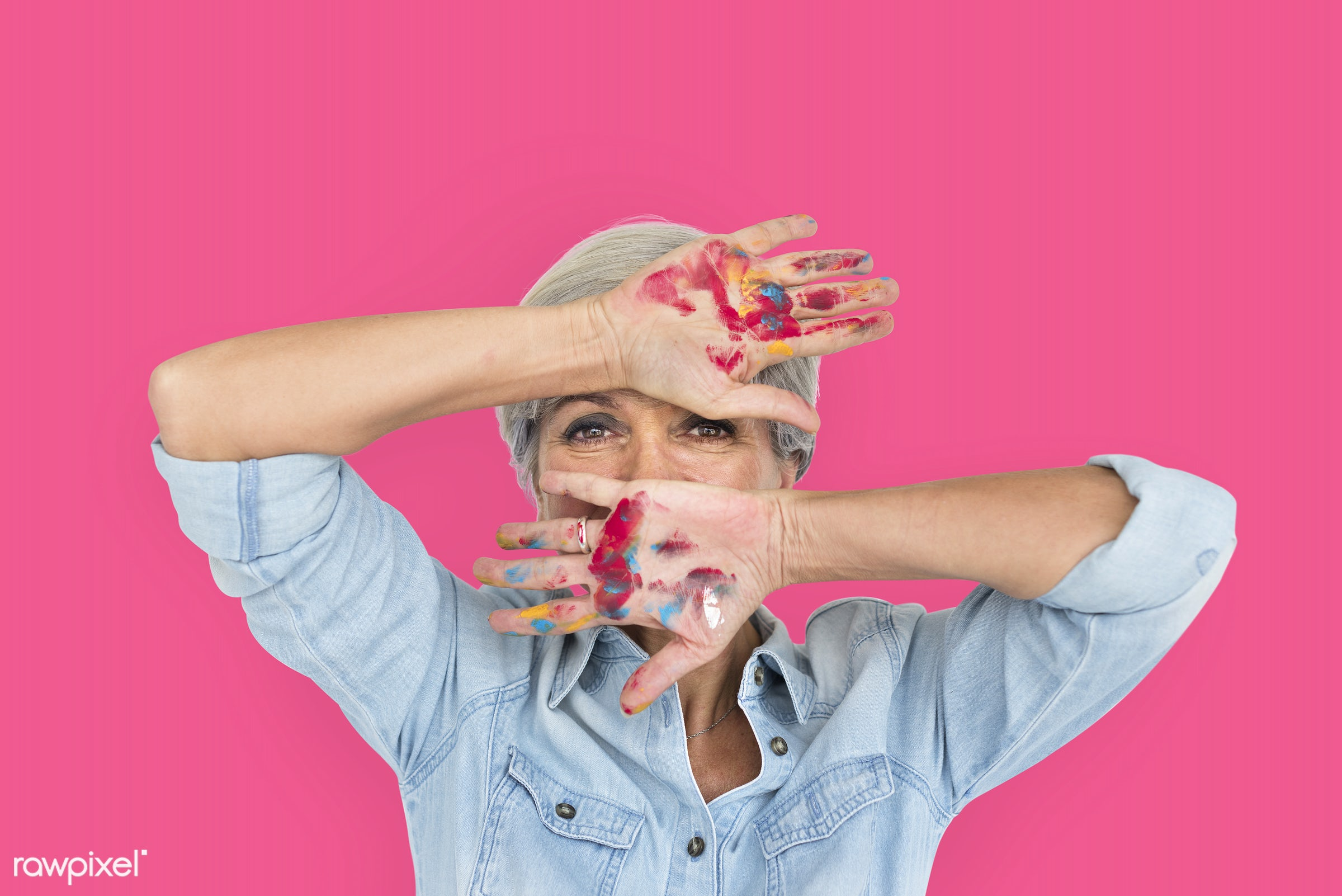 studio, expression, face, person, arts, cover mouth, beauty, cute, pretty, people, style, woman, casual, pink, isolated,...