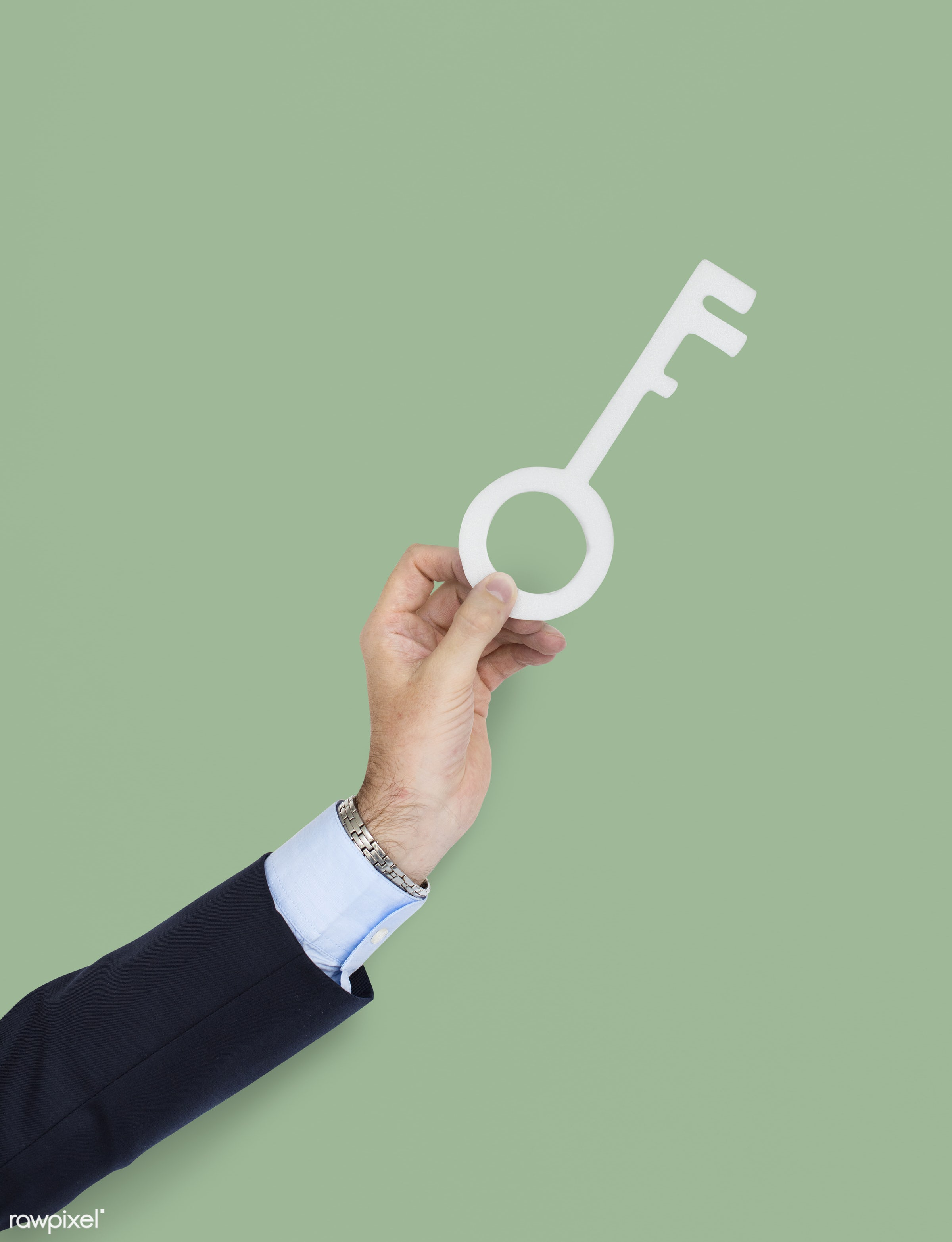 studio, expression, person, knowledge, holding, business wear, achieve, object, people, business, hand, partner, man, key,...