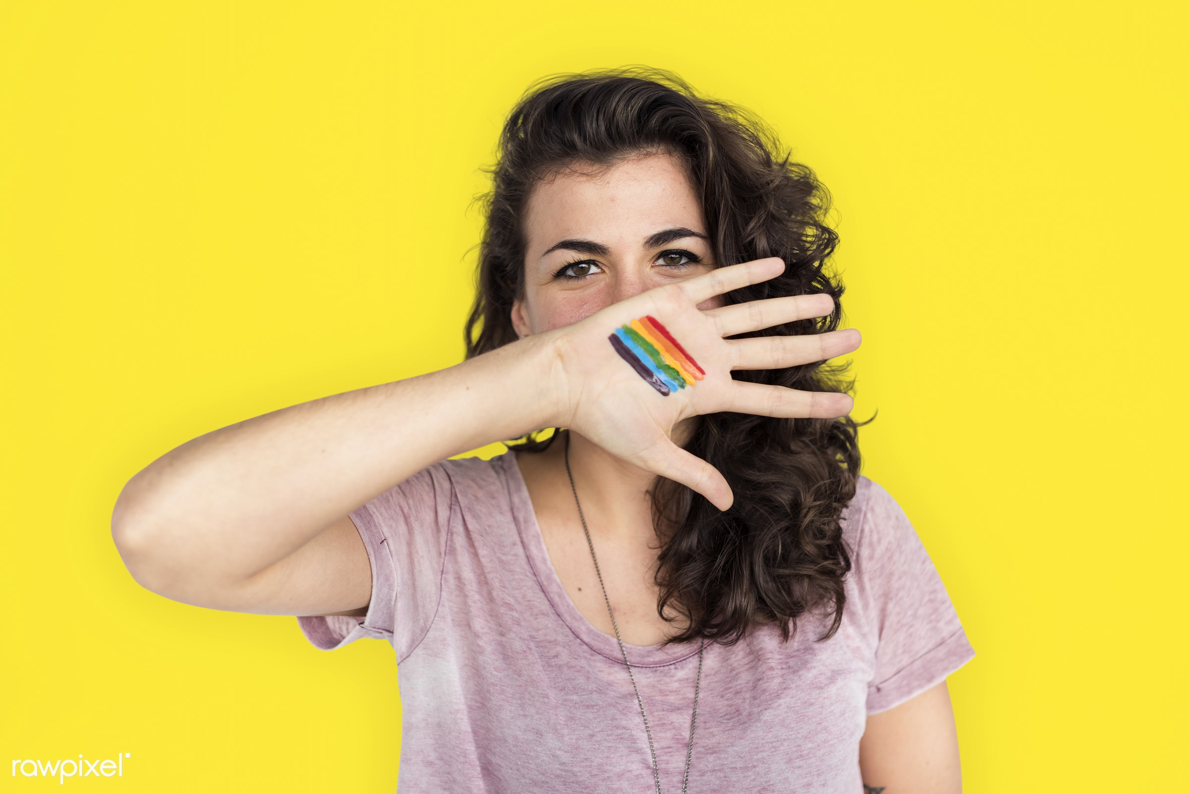 studio, face, person, human rights, colorful, cover mouth, rights, yellow, beauty, cute, pretty, people, women rights,...