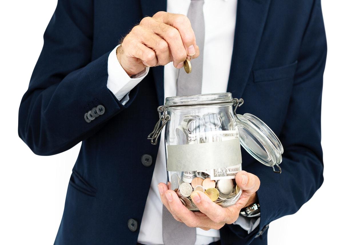 Man Money Box Finance Concept