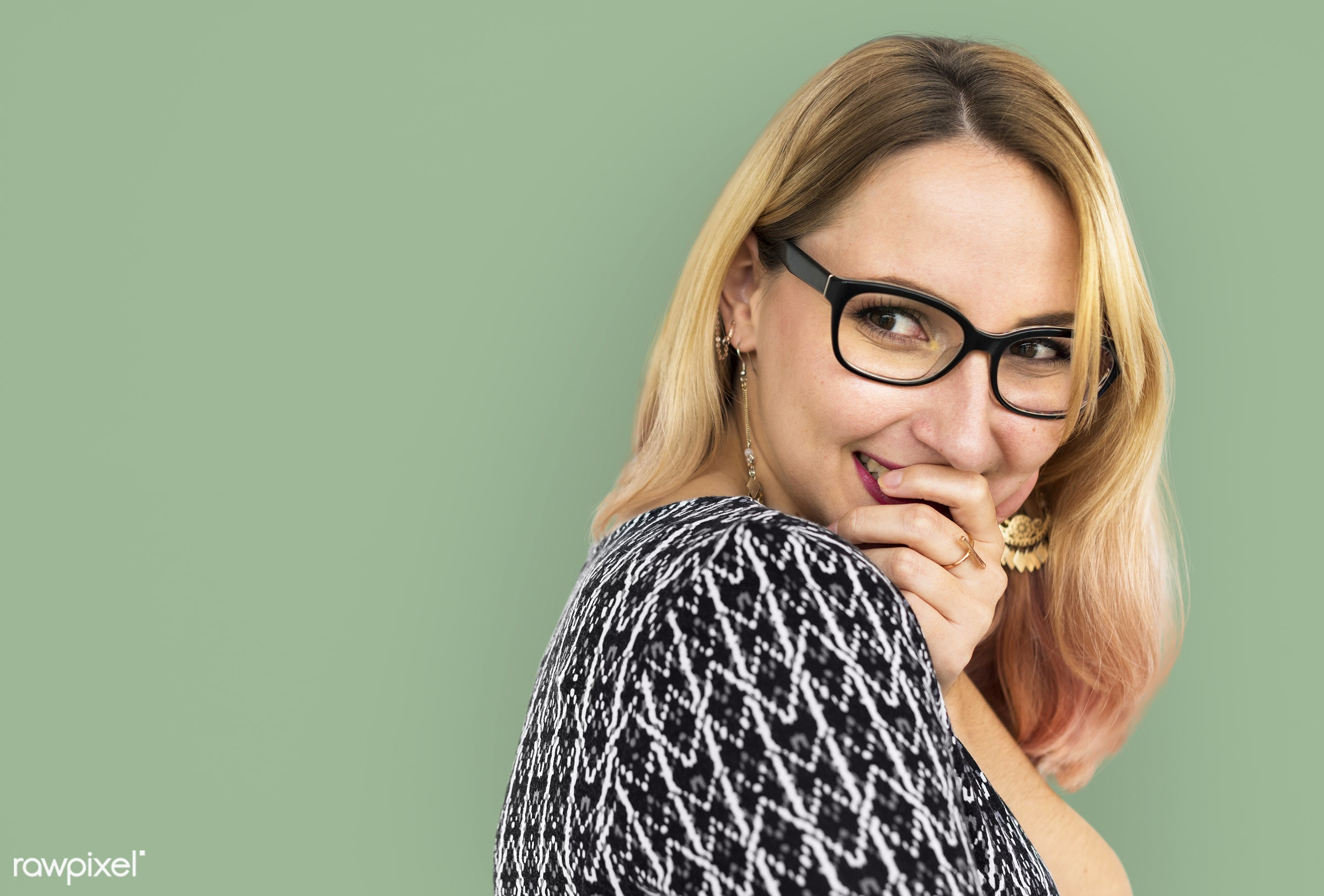 expression, studio, pastel, face, person, glasses, one, blond, cute, pretty, people, modern, laughing, girl, happy,...