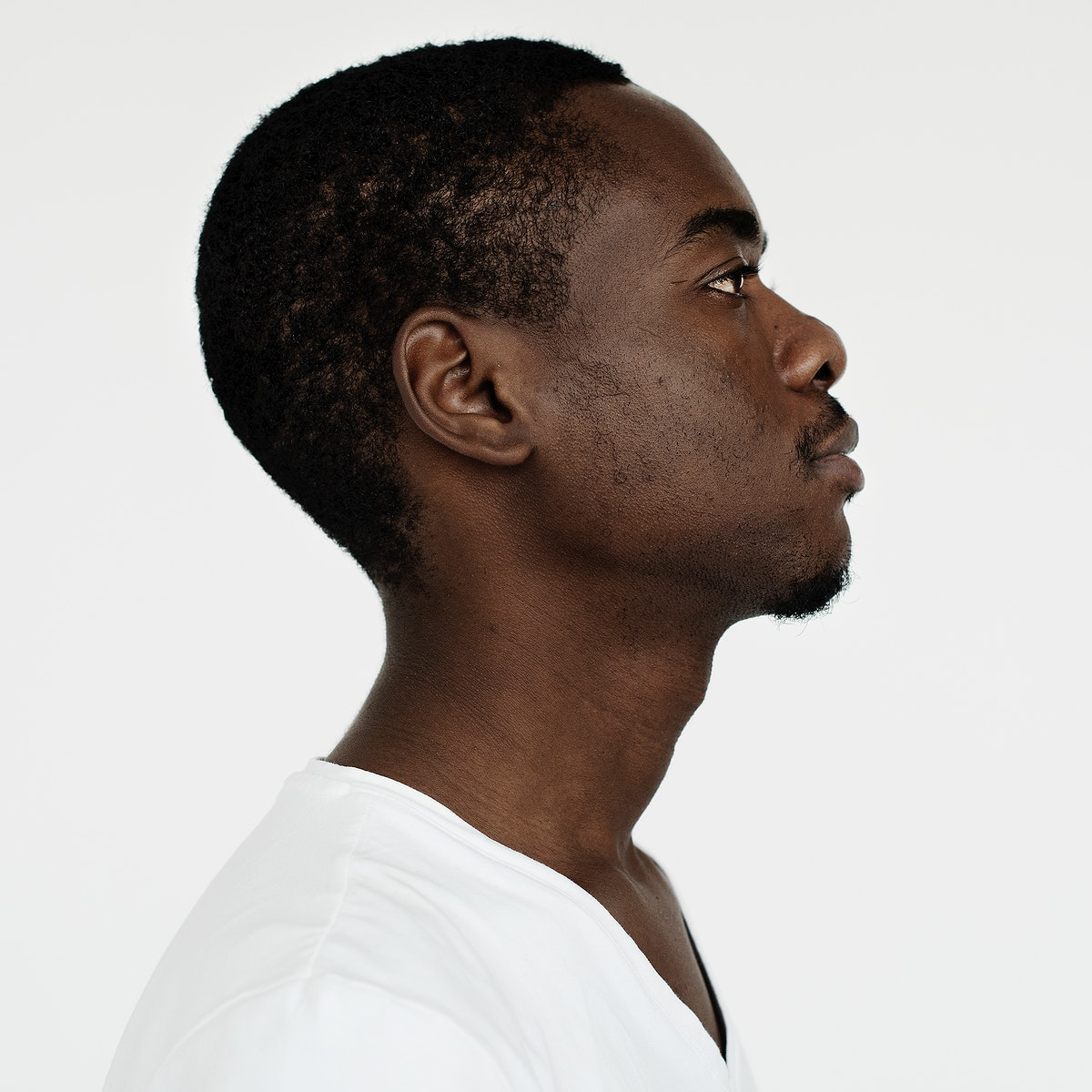 Worldface-Namibian guy in a white background