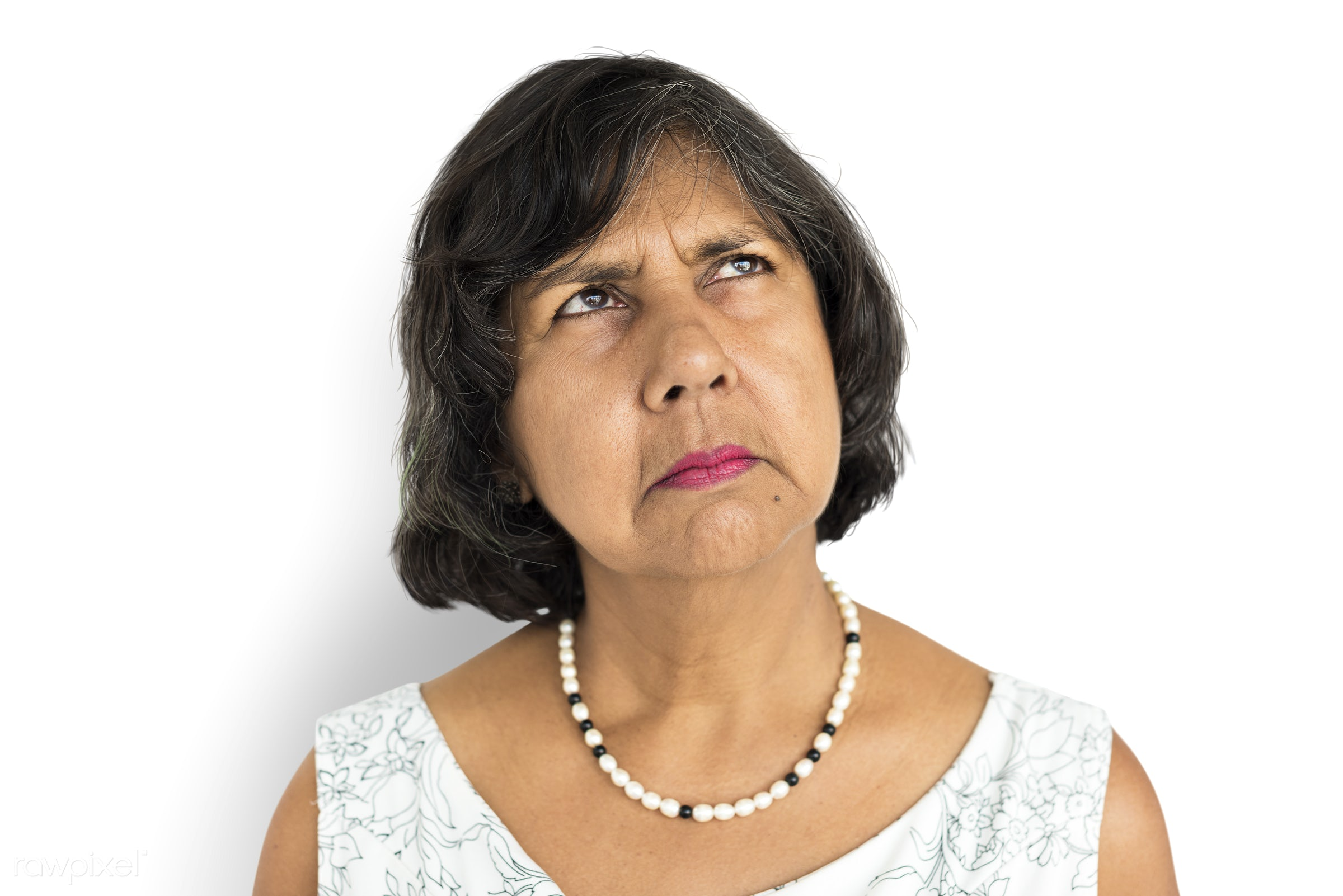 expression, studio, old, person, isolated on white, sad, heartbroken, grumpy, people, caucasian, girl, sadden, woman,...
