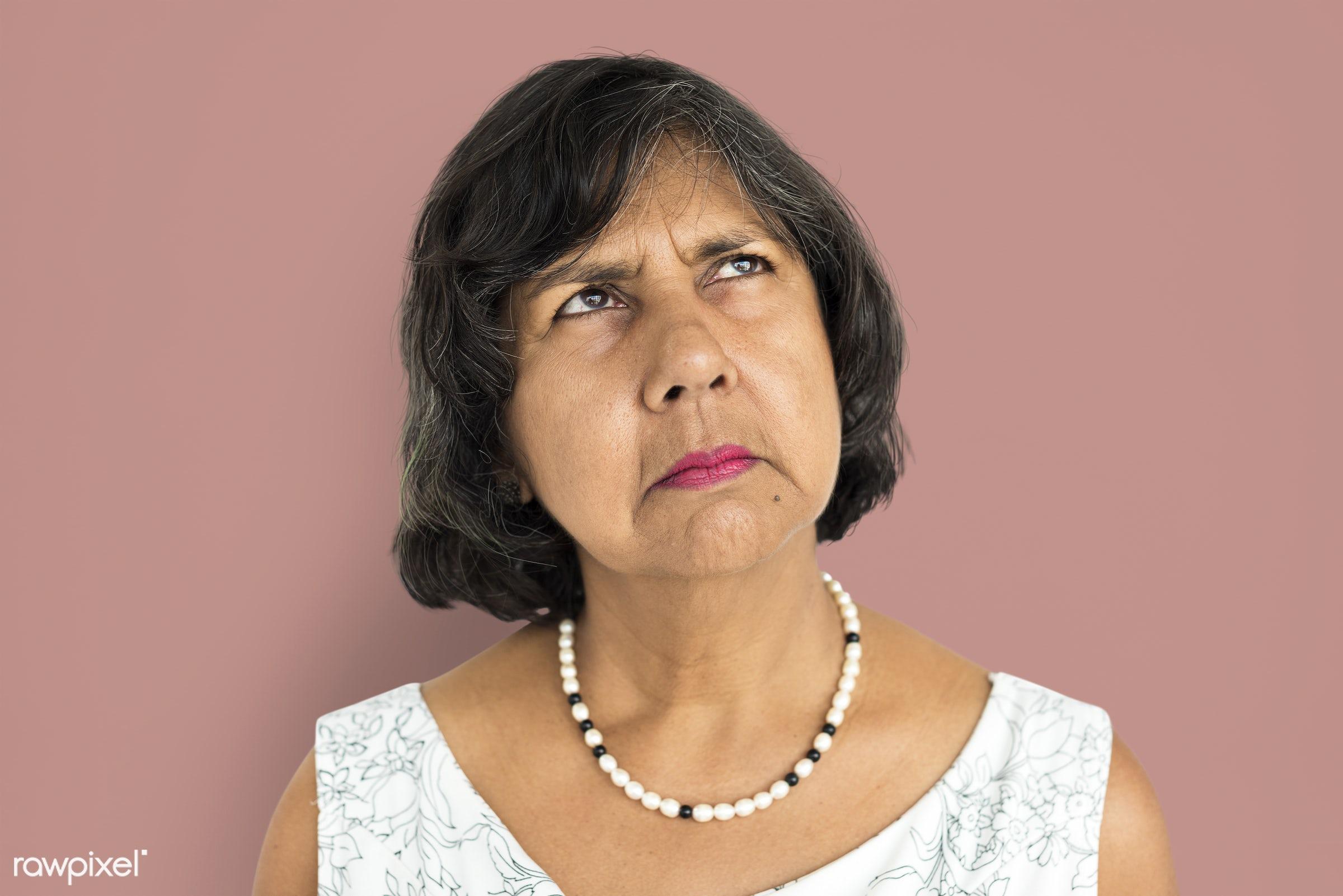 expression, studio, old, person, sad, heartbroken, grumpy, people, caucasian, girl, sadden, woman, american, broken heart,...