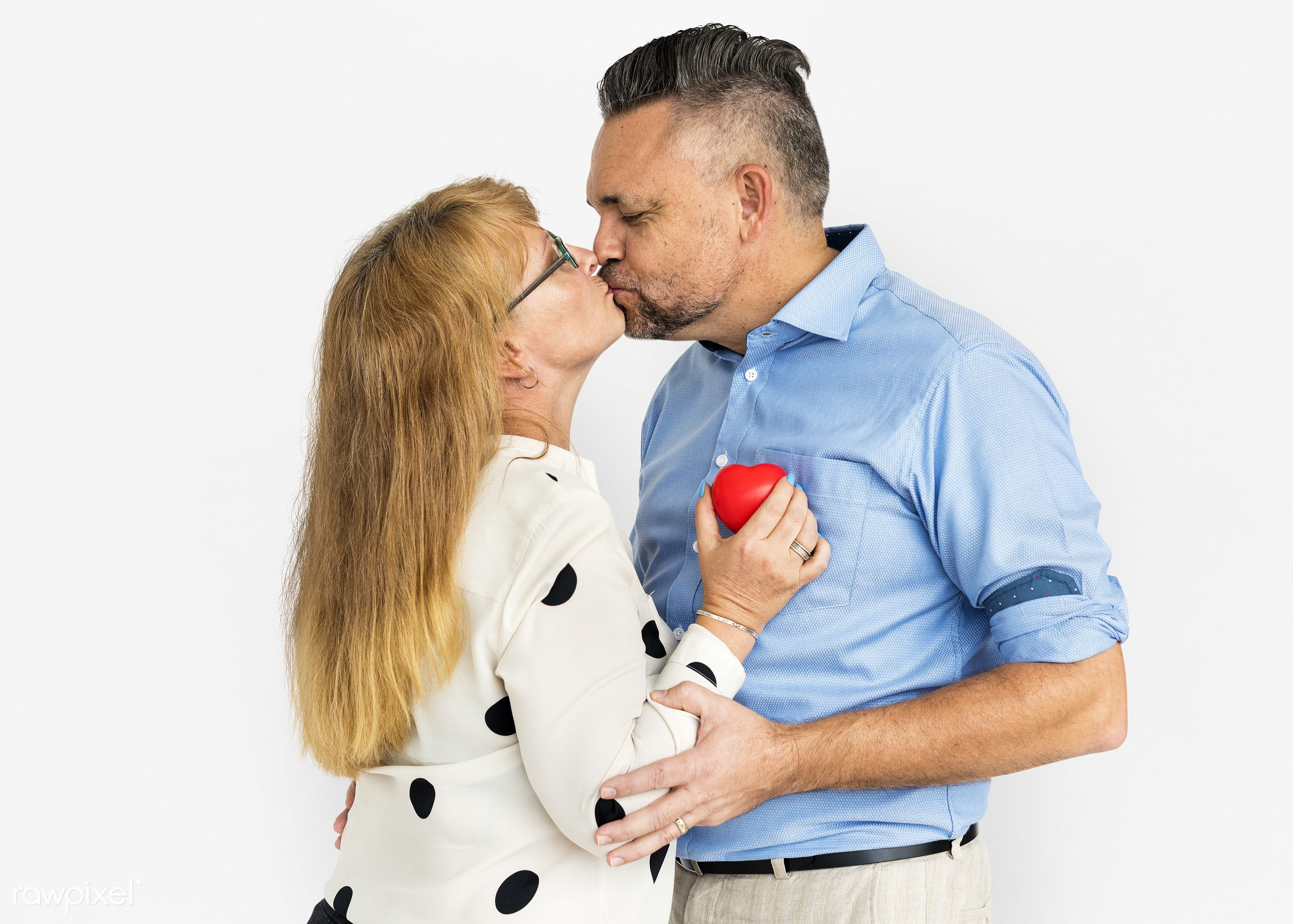 studio, person, people, together, caucasian, love, family, woman, care, cheerful, smiling, affection, heart, kissing, white...