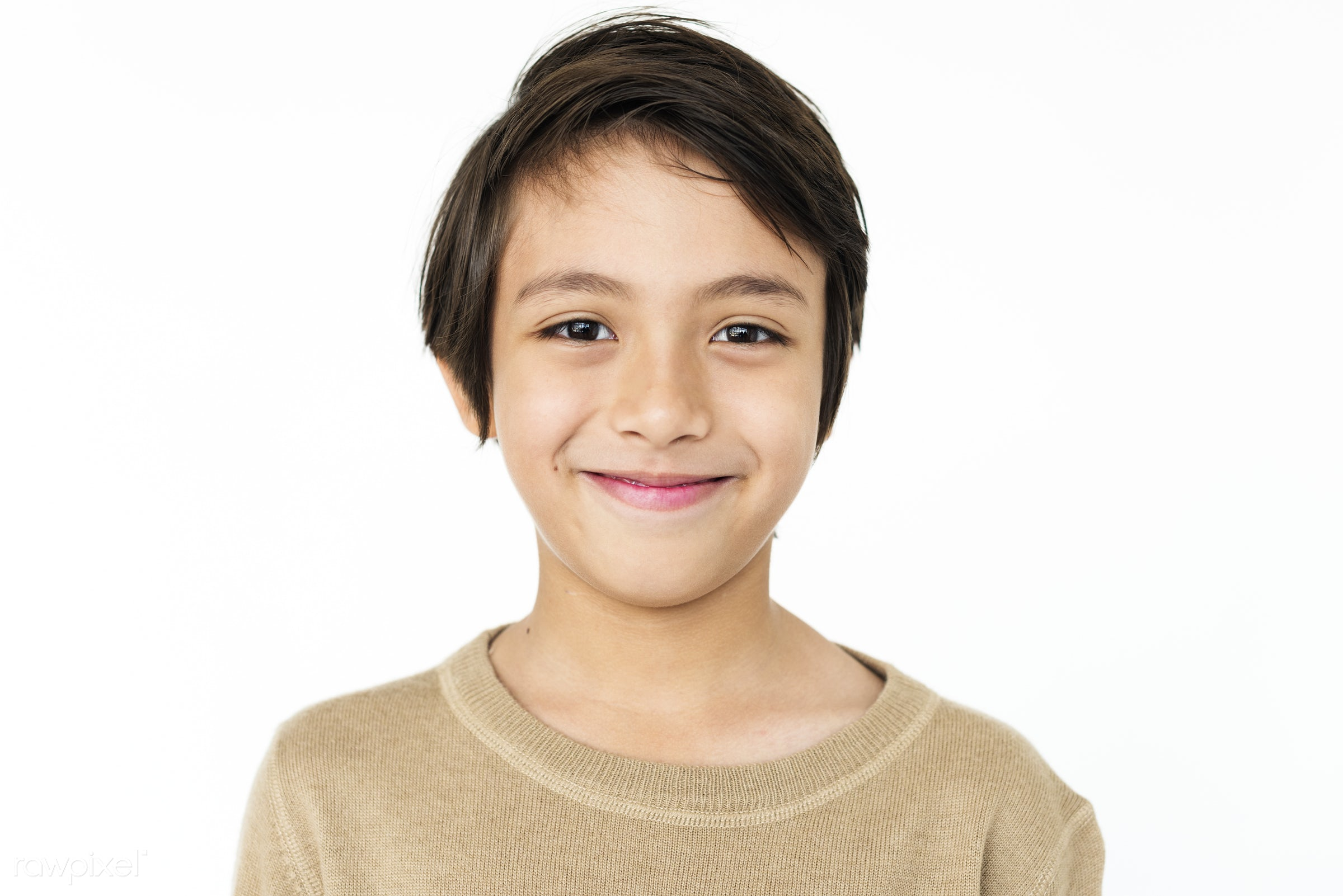 studio, expression, person, people, asian, kid, student, relaxed, teenager, smile, cheerful, smiling, isolated, teen, white...