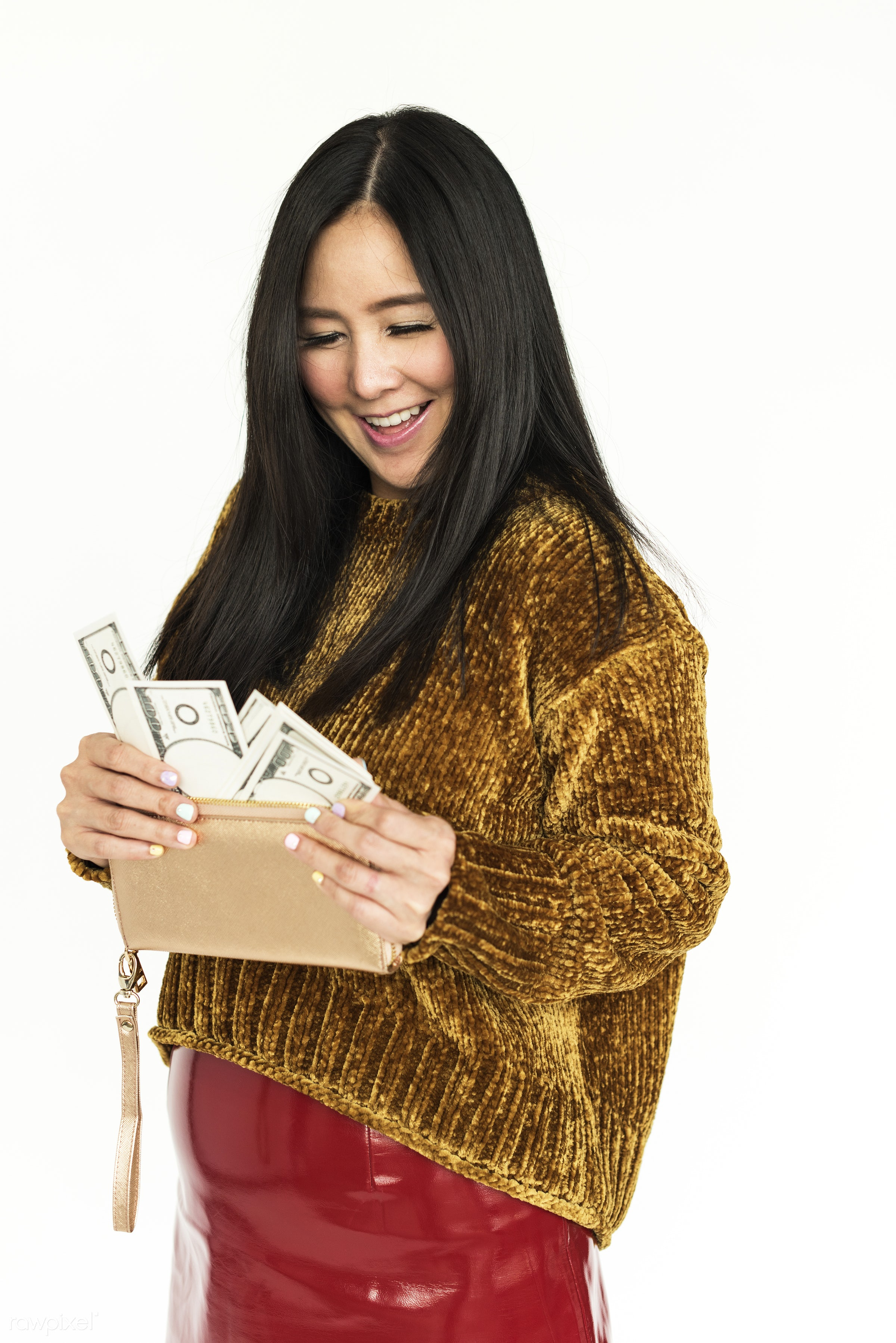 adult, asian, attractive, background, beautiful, beauty, black hair, candid, cash, casual, cheerful, chill, cold, currency,...