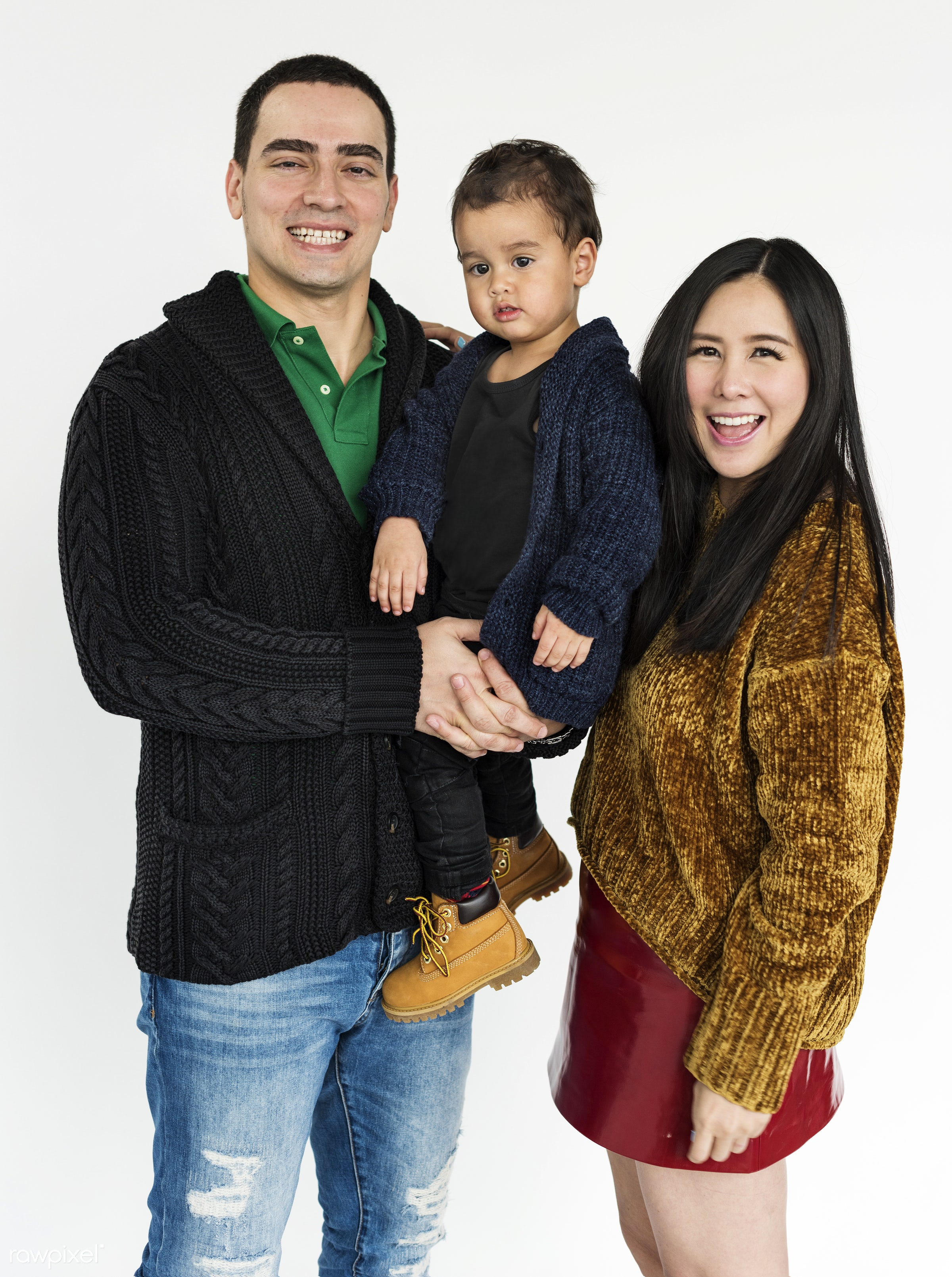 studio, expression, person, holding, people, together, caucasian, asian, kid, love, young adult, woman, family, dad,...