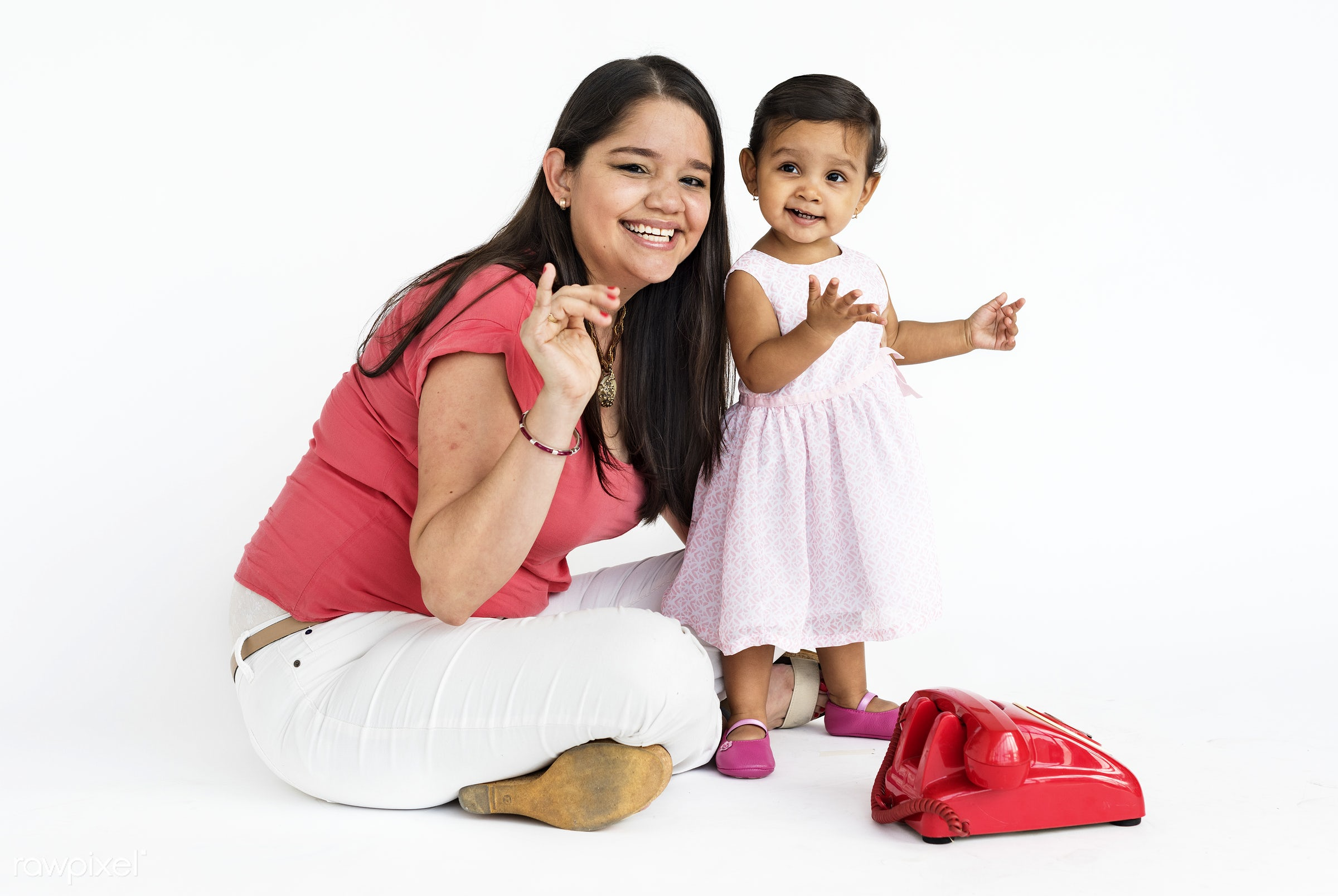 studio, expression, person, people, asian, kid, love, family, woman, childhood, smile, cheerful, smiling, isolated, little...