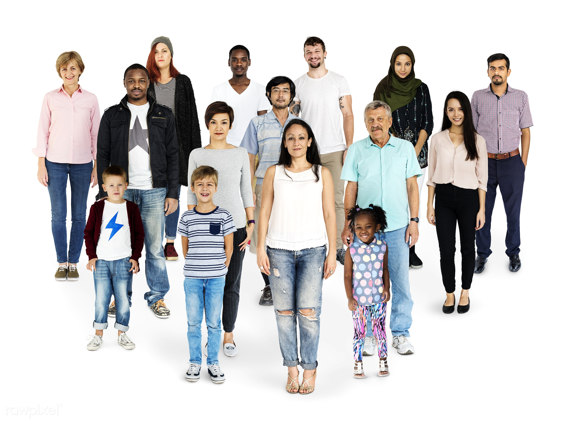 Diverse people set - gentlemen, studio, person, diverse, set, children, little, collection, people, together, attraction,...