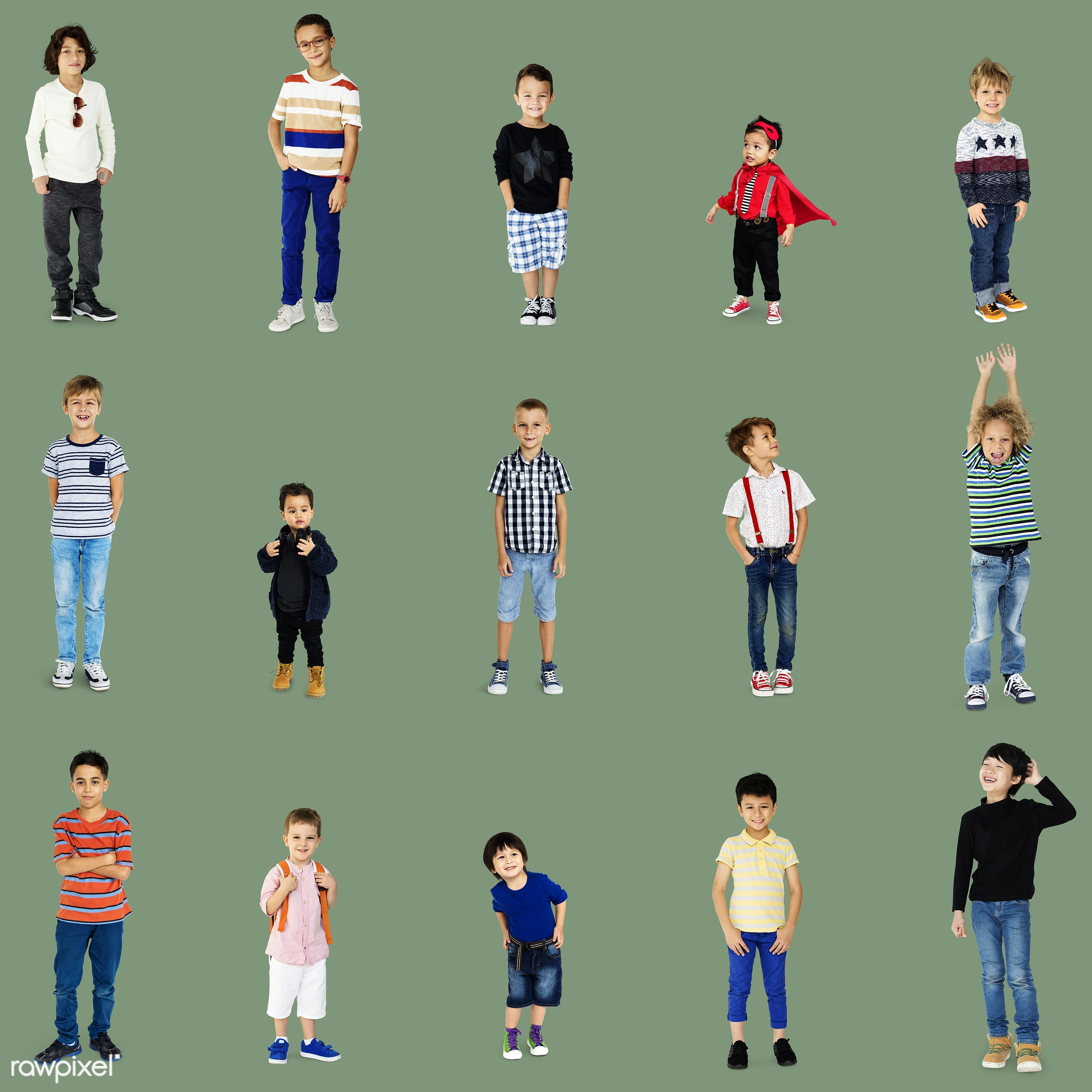 studio, person, diverse, set, children, little, collection, people, together, caucasian, asian, kid, young boy, child, life...