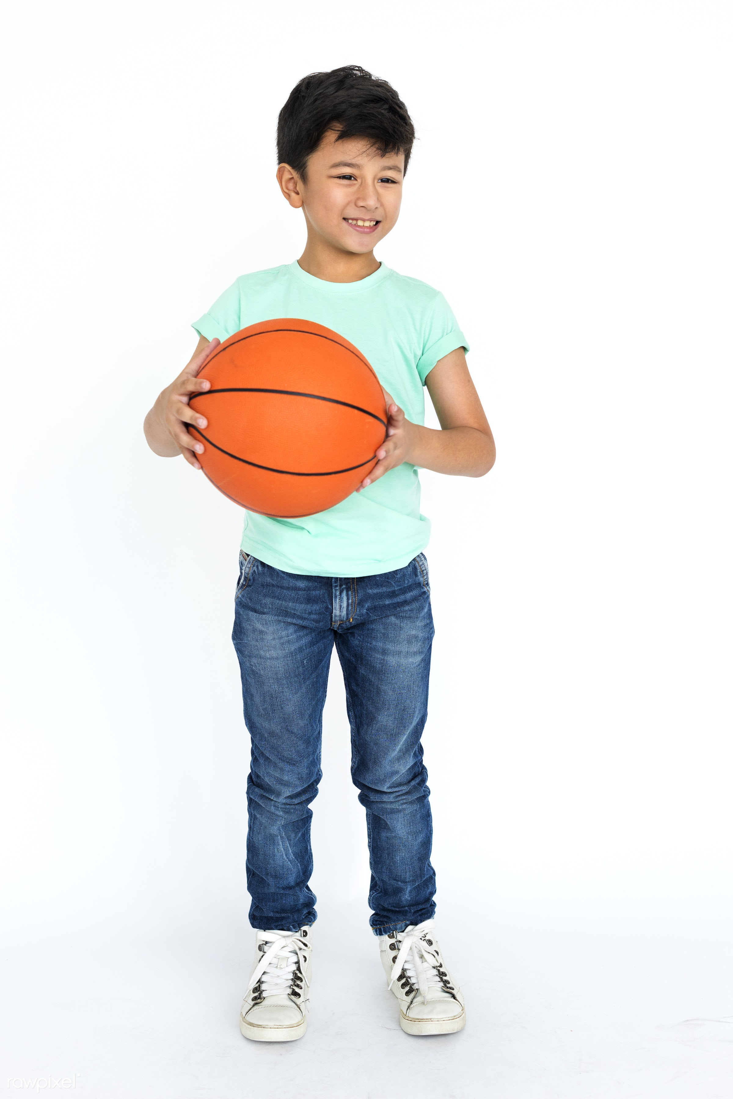 studio, basketball, expression, person, people, asian, kid, student, relaxed, teenager, smile, cheerful, smiling, isolated,...