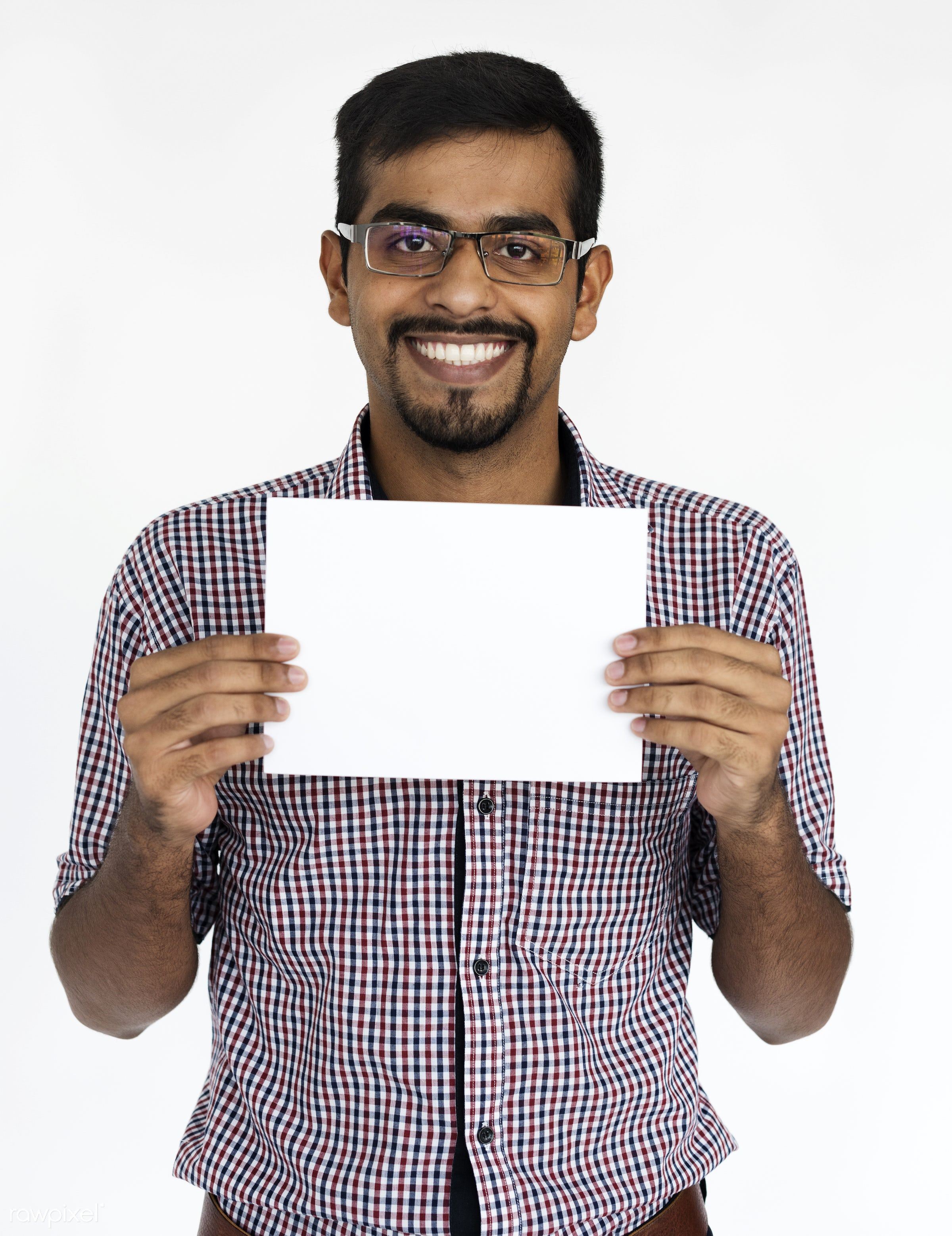 studio, person, holding, show, people, displaying, placard, empty, positive, smile, cheerful, smiling, copy, isolated, hold...