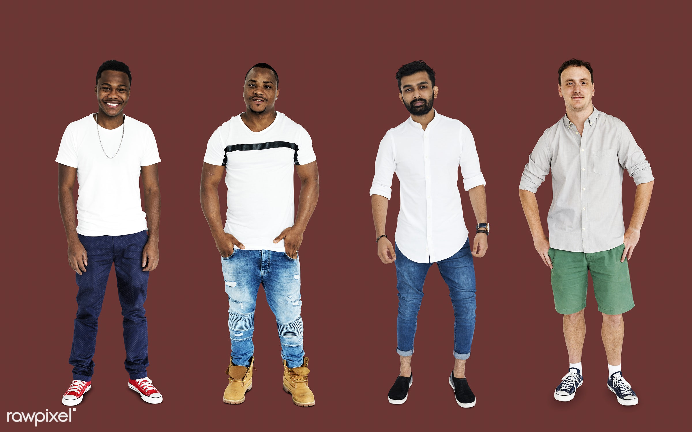 gentlemen, studio, person, african, diverse, relax, set, little, collection, people, together, attraction, caucasian, life,...