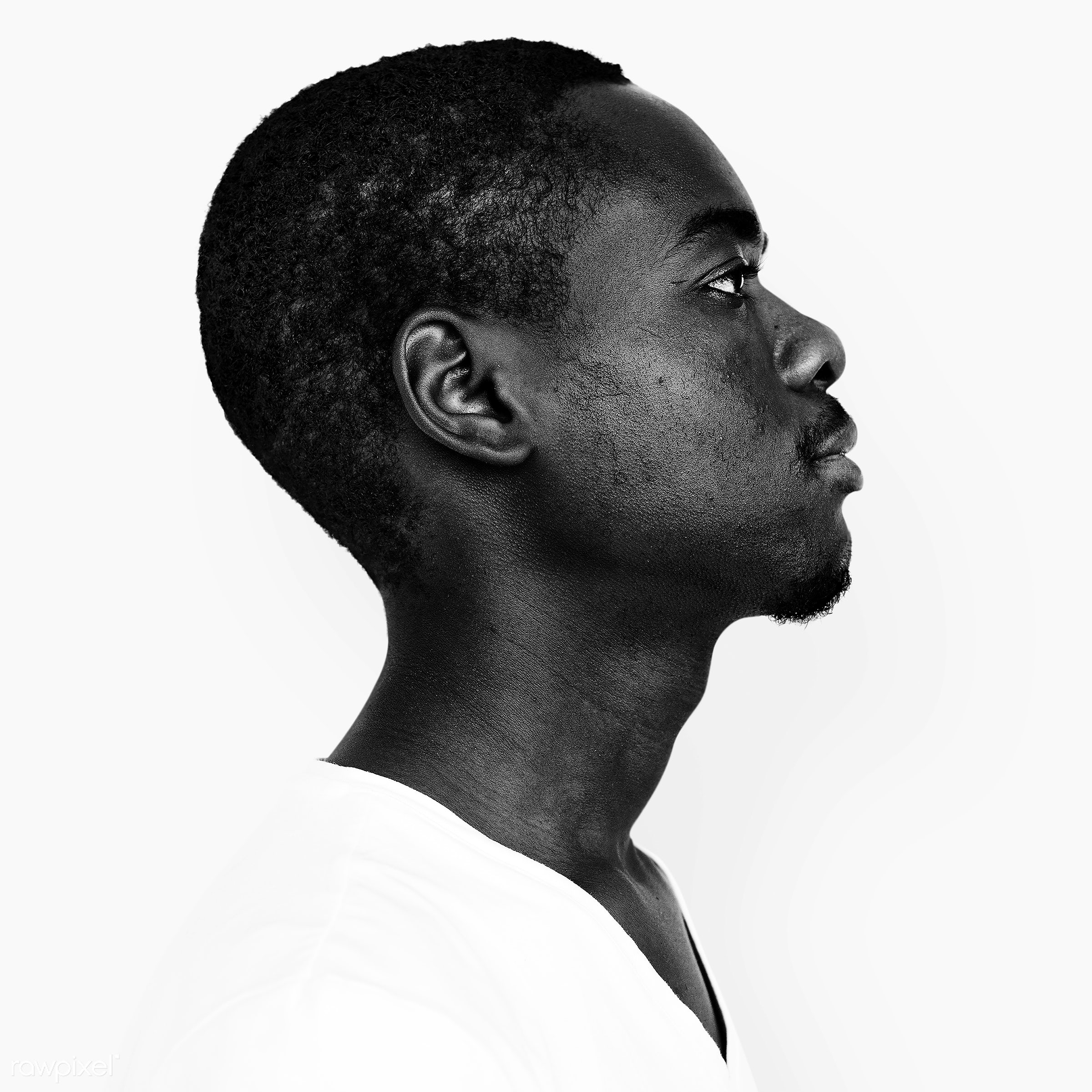 Portrait of a Namibian man - african, african descent, alone, black, black and white, closeup, cool, expression, face,...