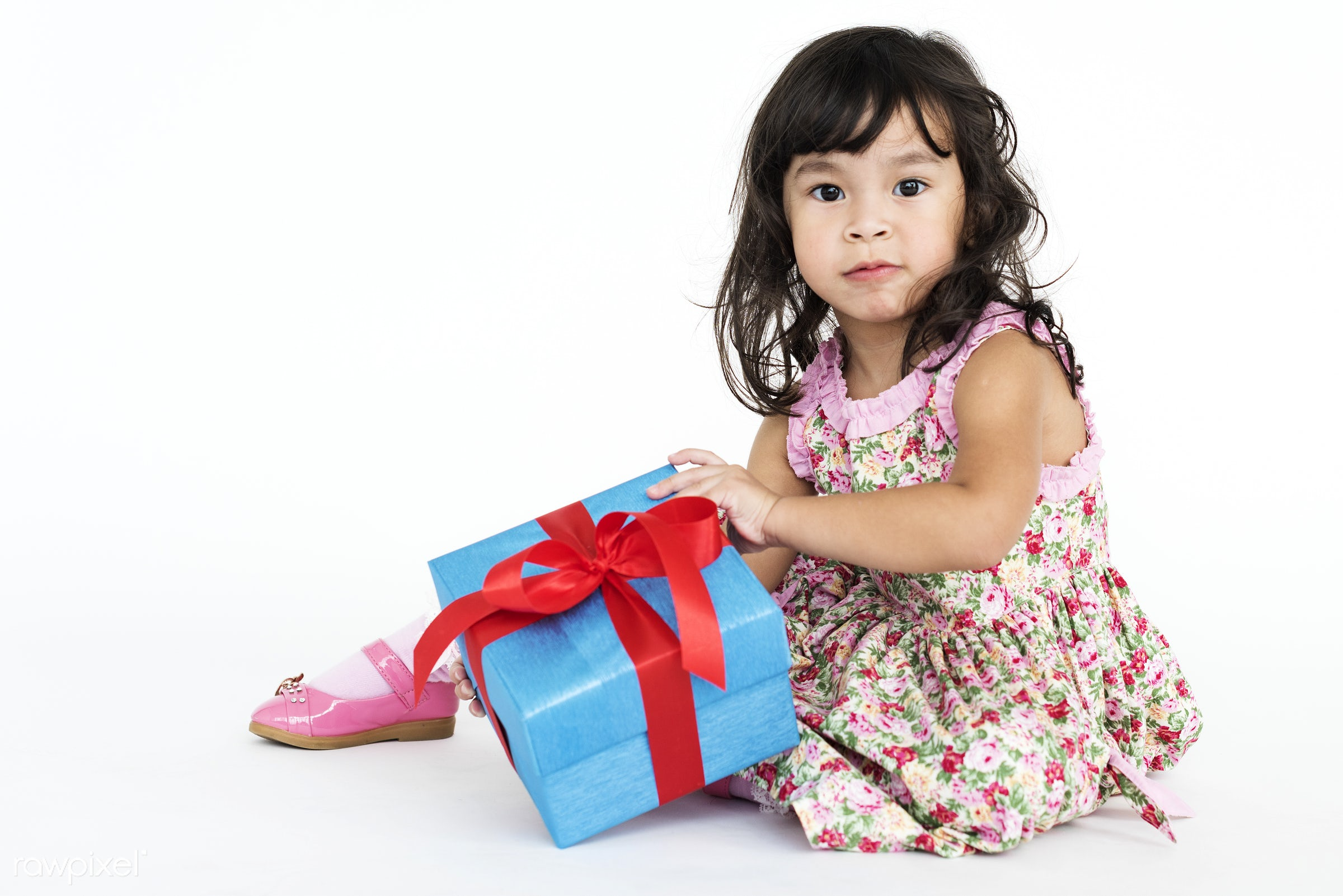 studio, expression, holding, little, asian, kid, event, ribbon, childhood, cheerful, smiling, isolated, happiness, fun,...