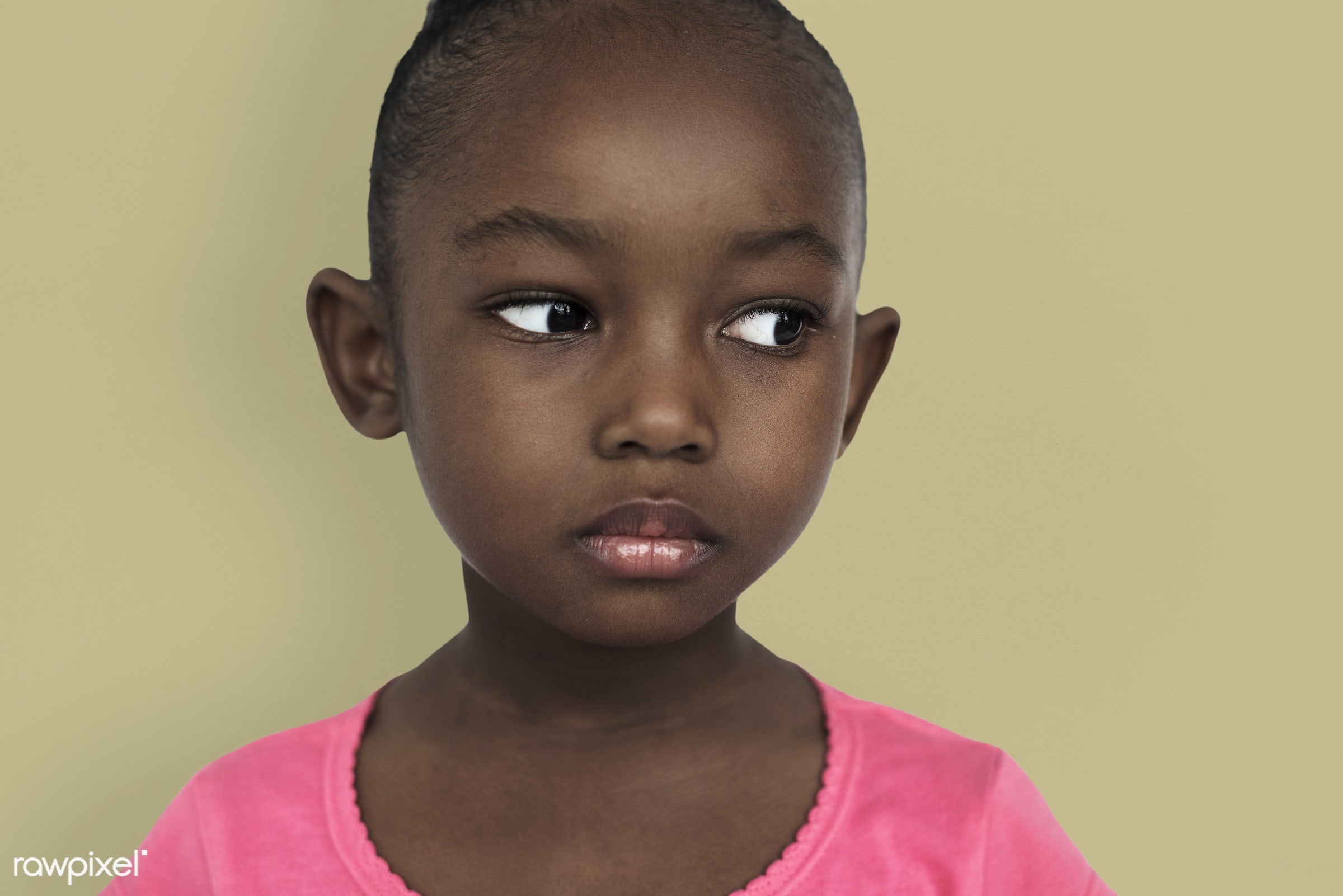 expression, studio, depress, face, person, african, sad, boredom, bored, beauty, cute, pretty, people, kid, child, girl,...