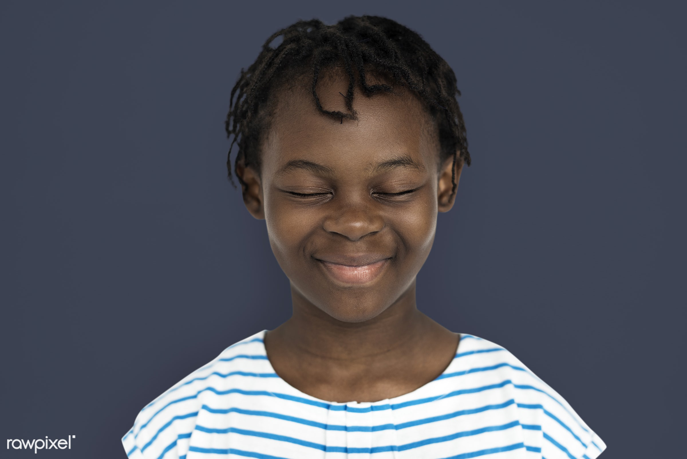 studio, expression, person, people, kid, childhood, smile, cheerful, smiling, african descent, happiness, portrait, emotion...