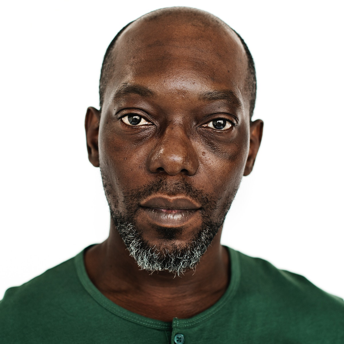Worldface-Congolese guy in a white background