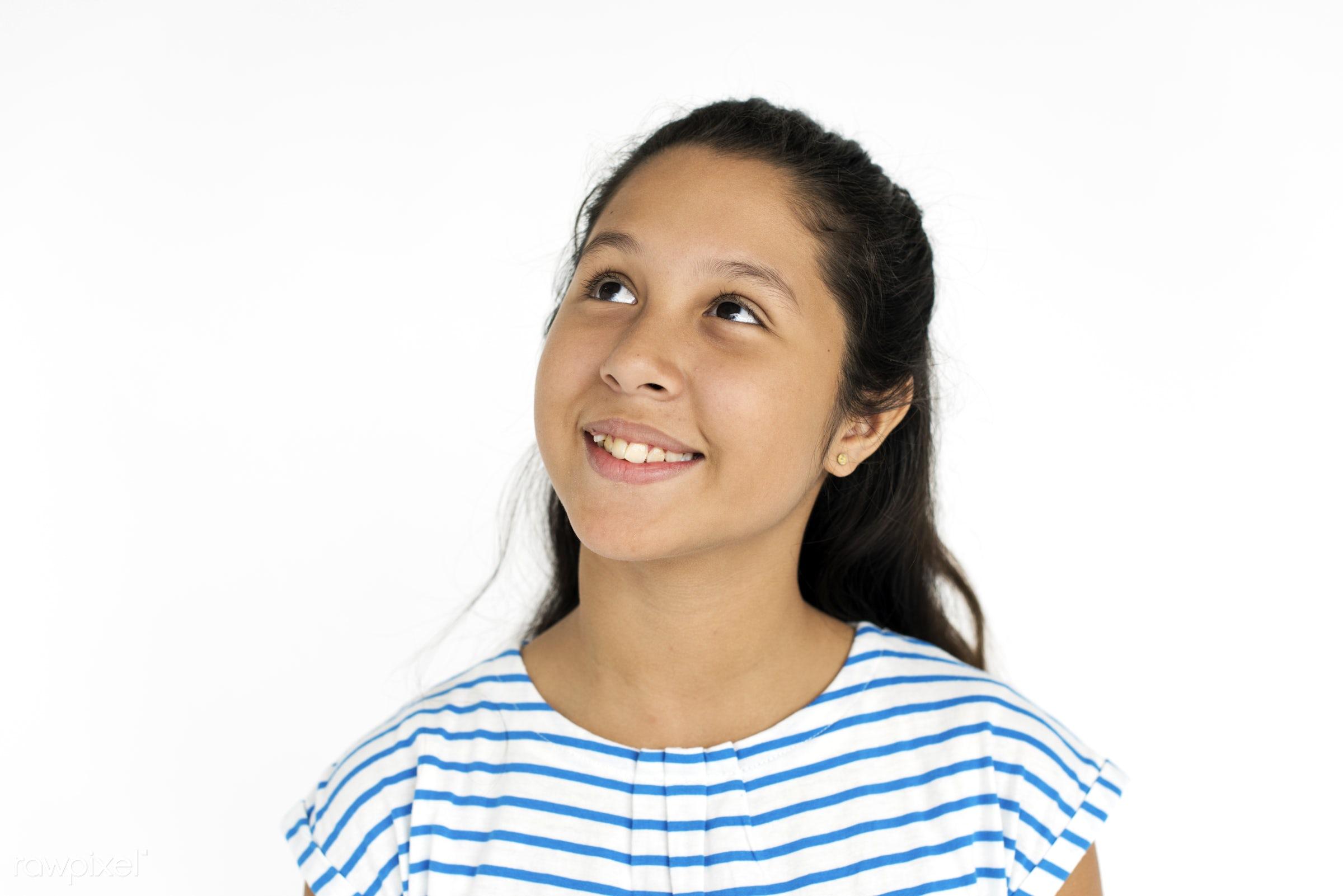 expression, studio, face, playful, joy, little, carefree, cute, pretty, kid, asian, modern, child, girl, happy, childhood,...
